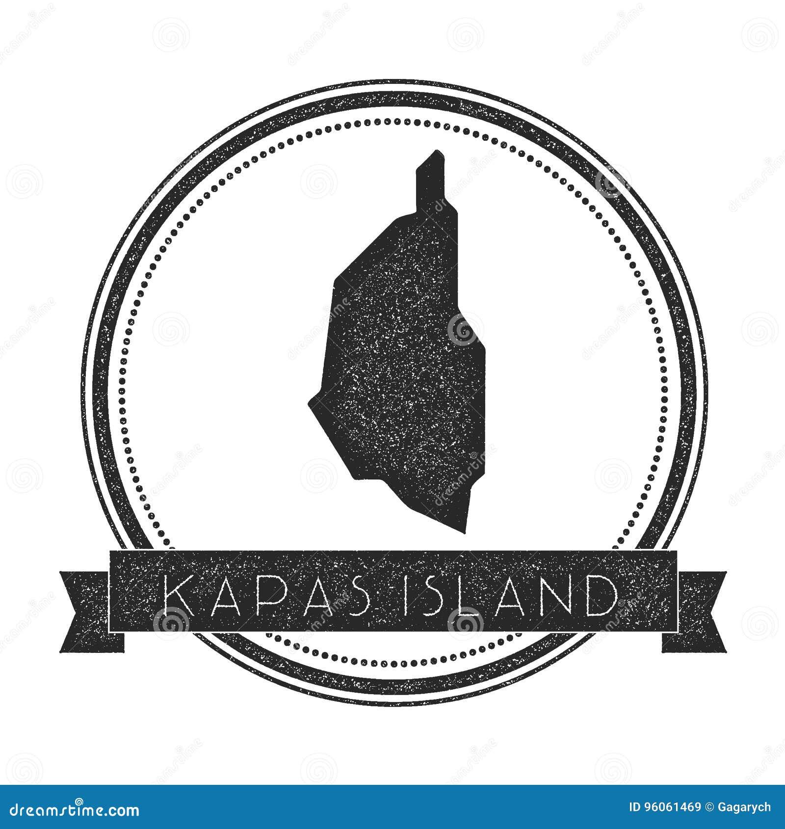 Timbre de carte d île de Kapas