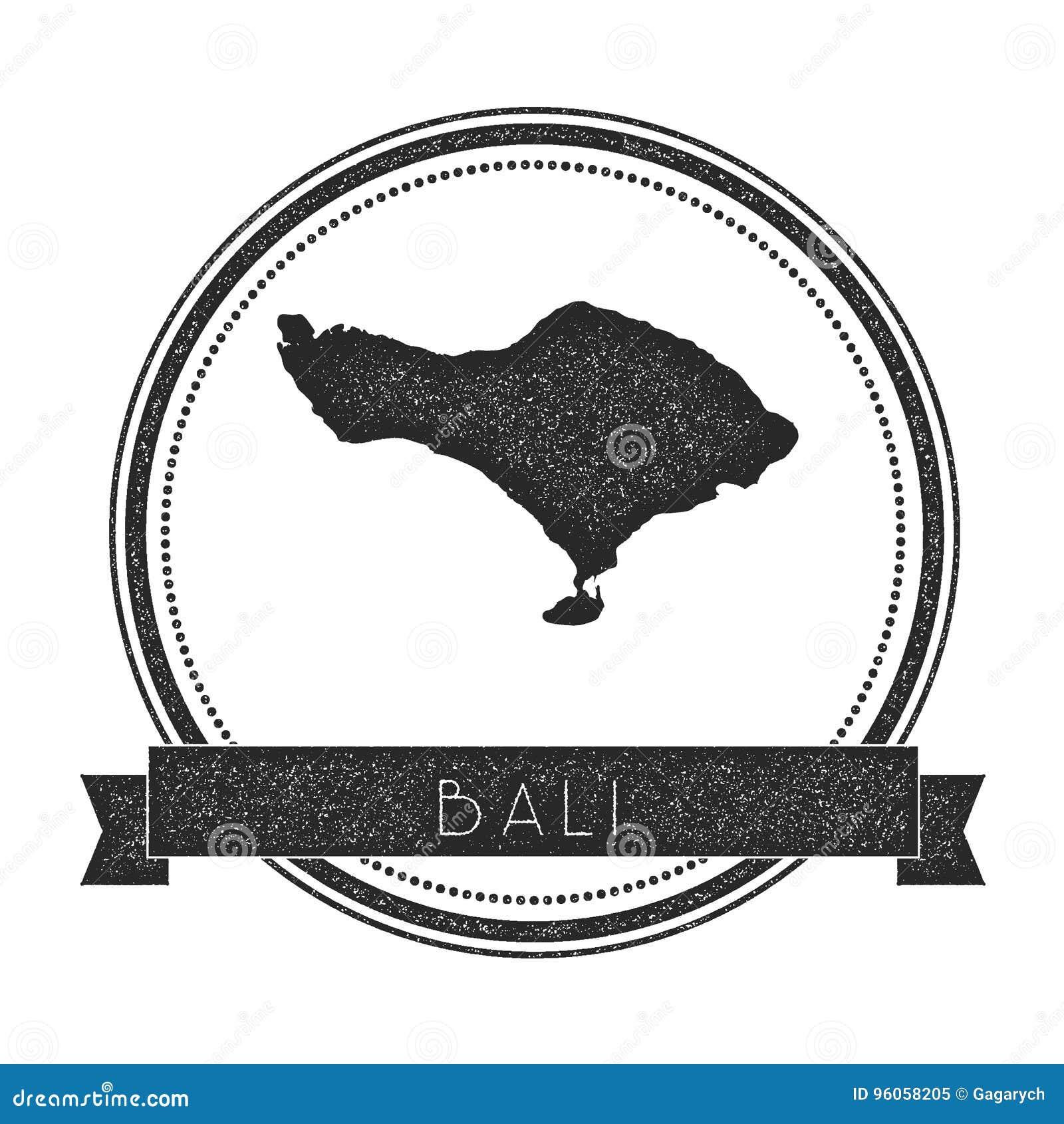 Timbre de carte de Bali