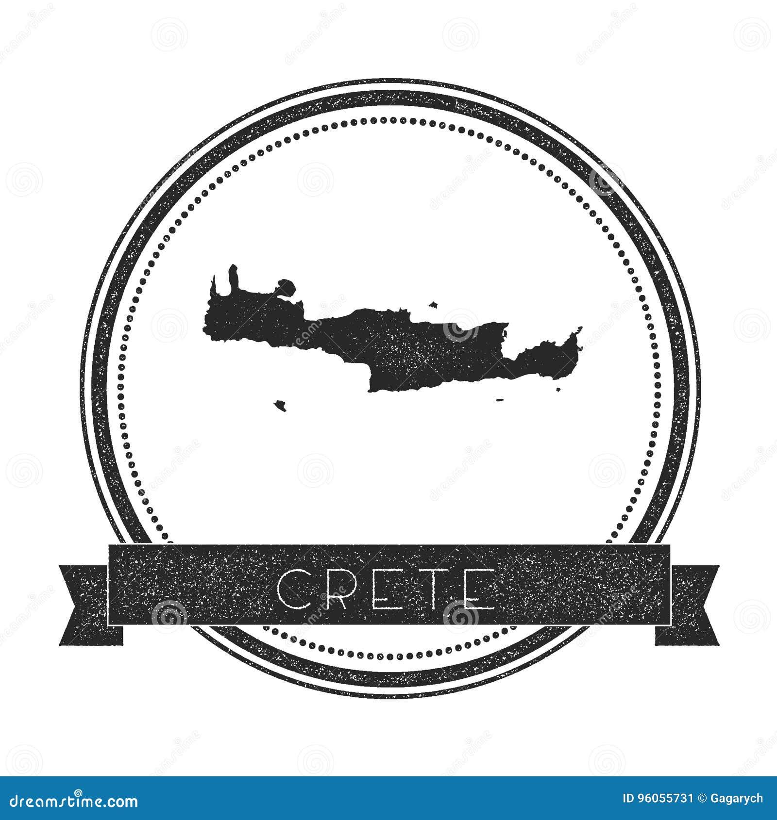 Timbre de carte de Crète