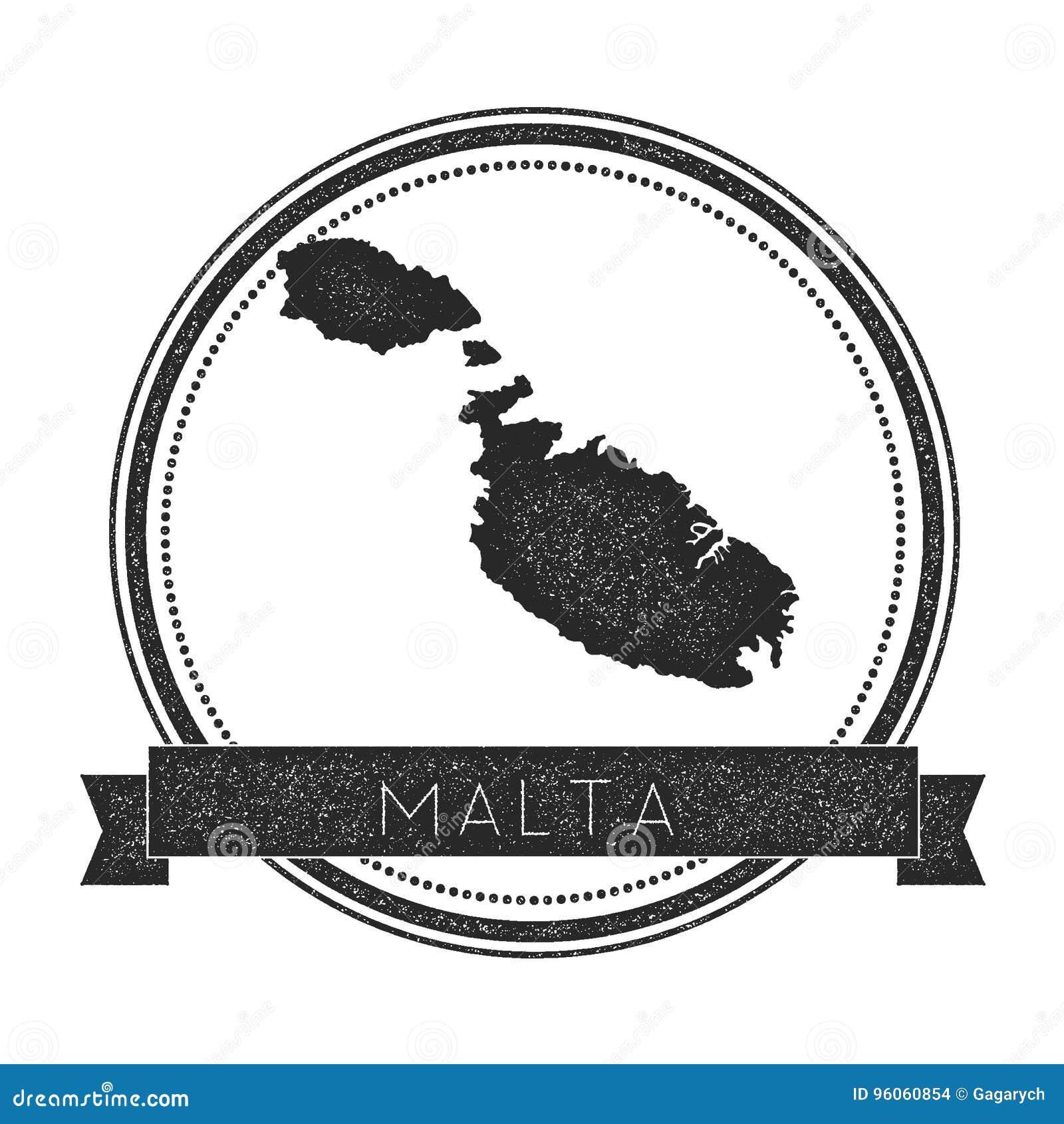 Timbre de carte de Malte