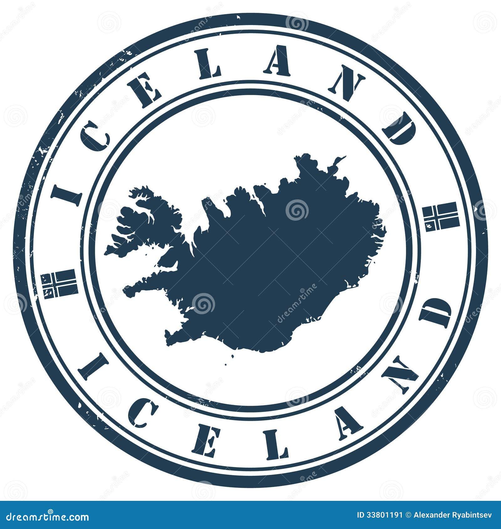 Timbre De L Islande Illustration De Vecteur Illustration