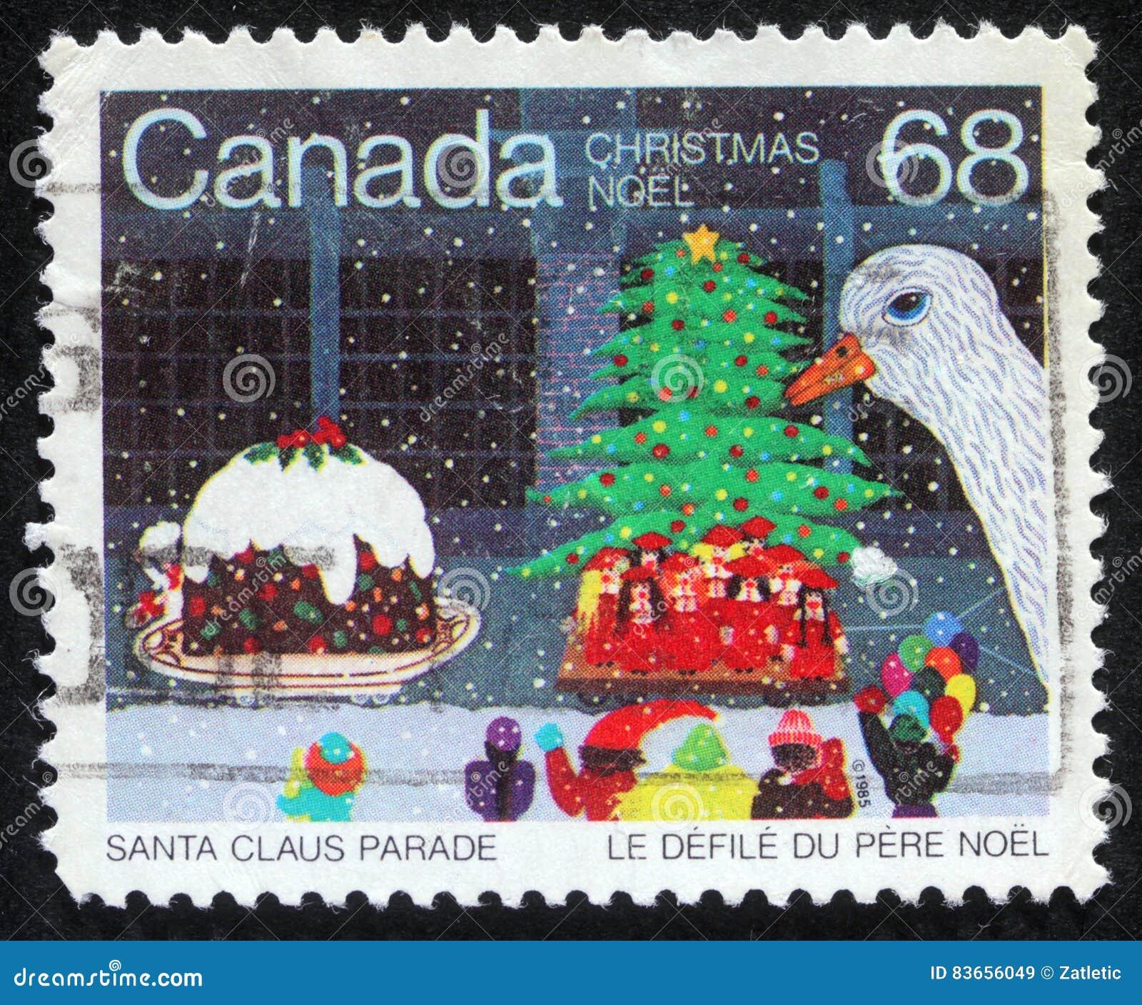 Timbre de Noël imprimé dans le Canada