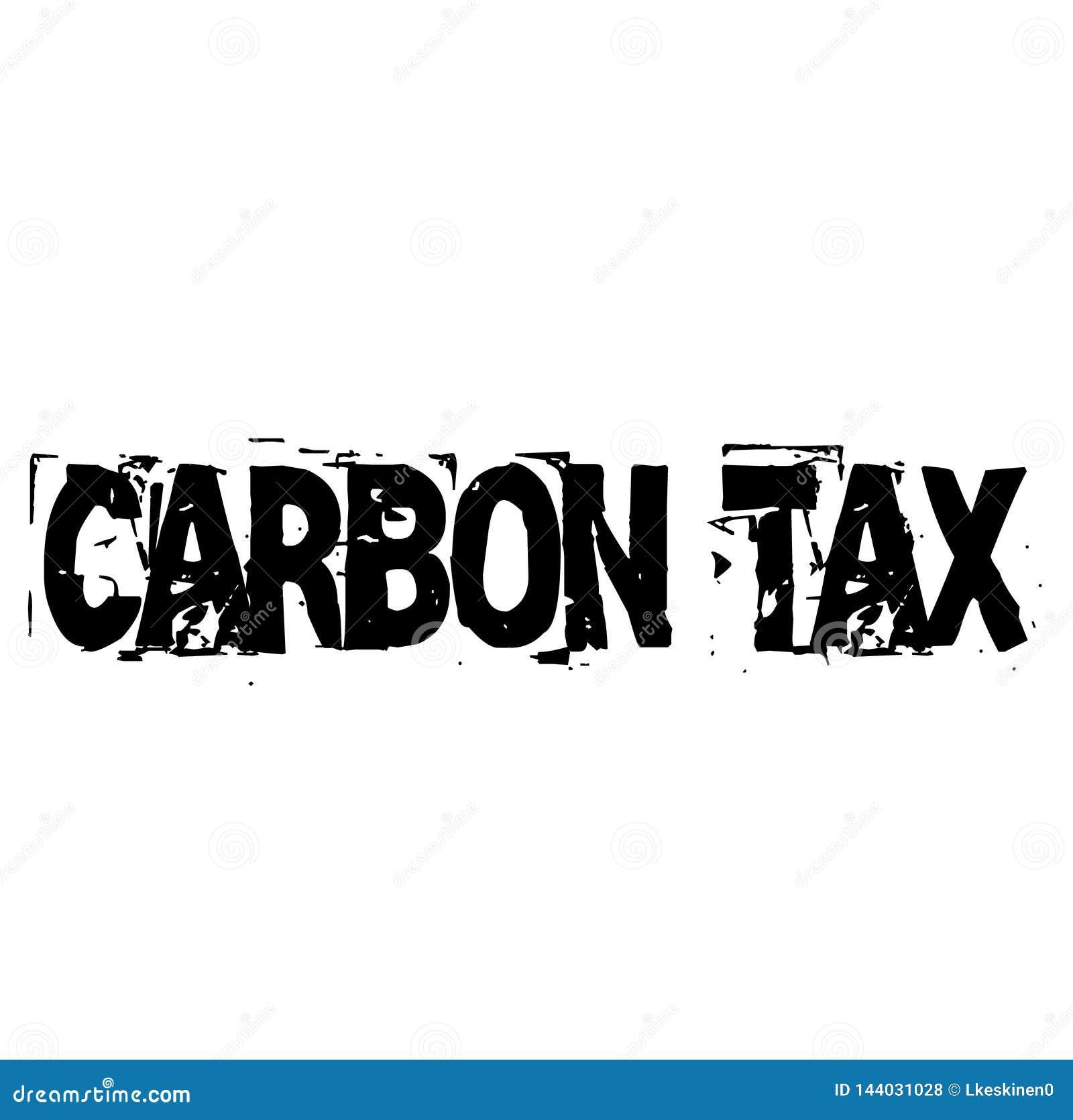 Timbre fiscal del CARBONO en blanco
