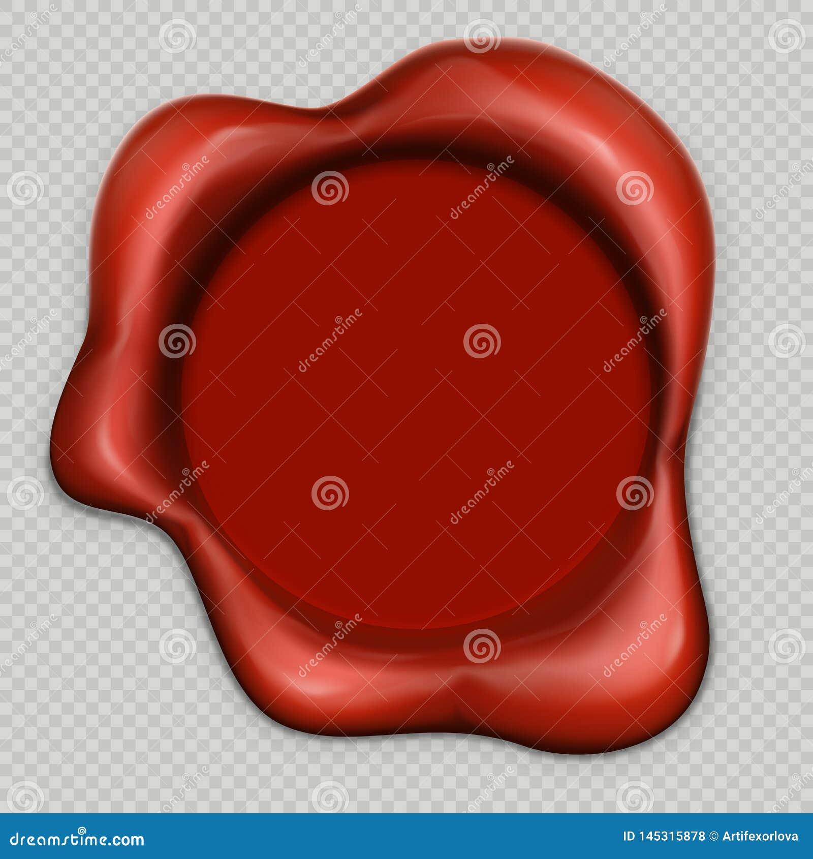 Timbre r?aliste de la cire 3d isolaed sur le fond transparent Vecteur d ENV 10