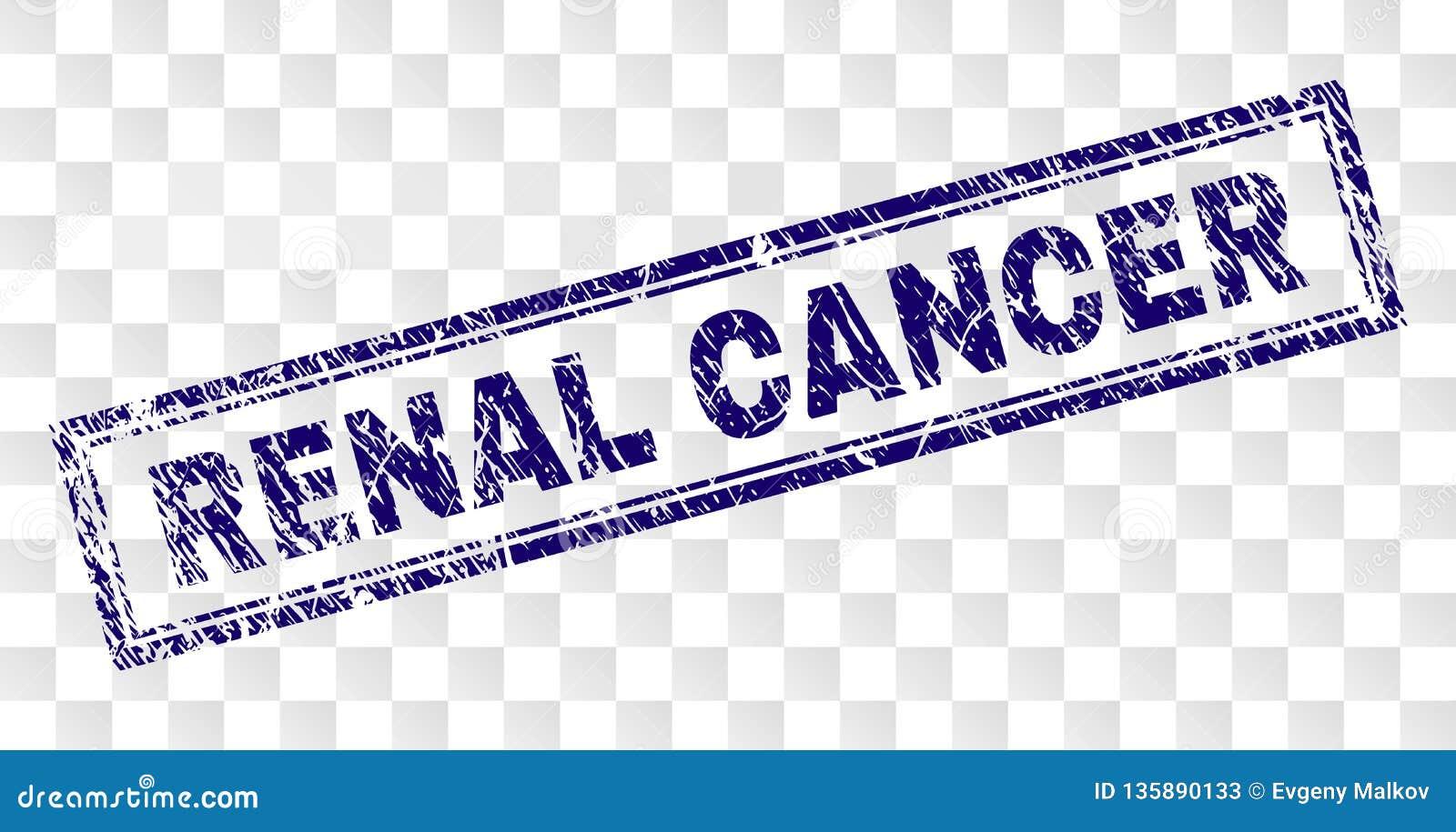Timbre RÉNAL rayé de rectangle de CANCER
