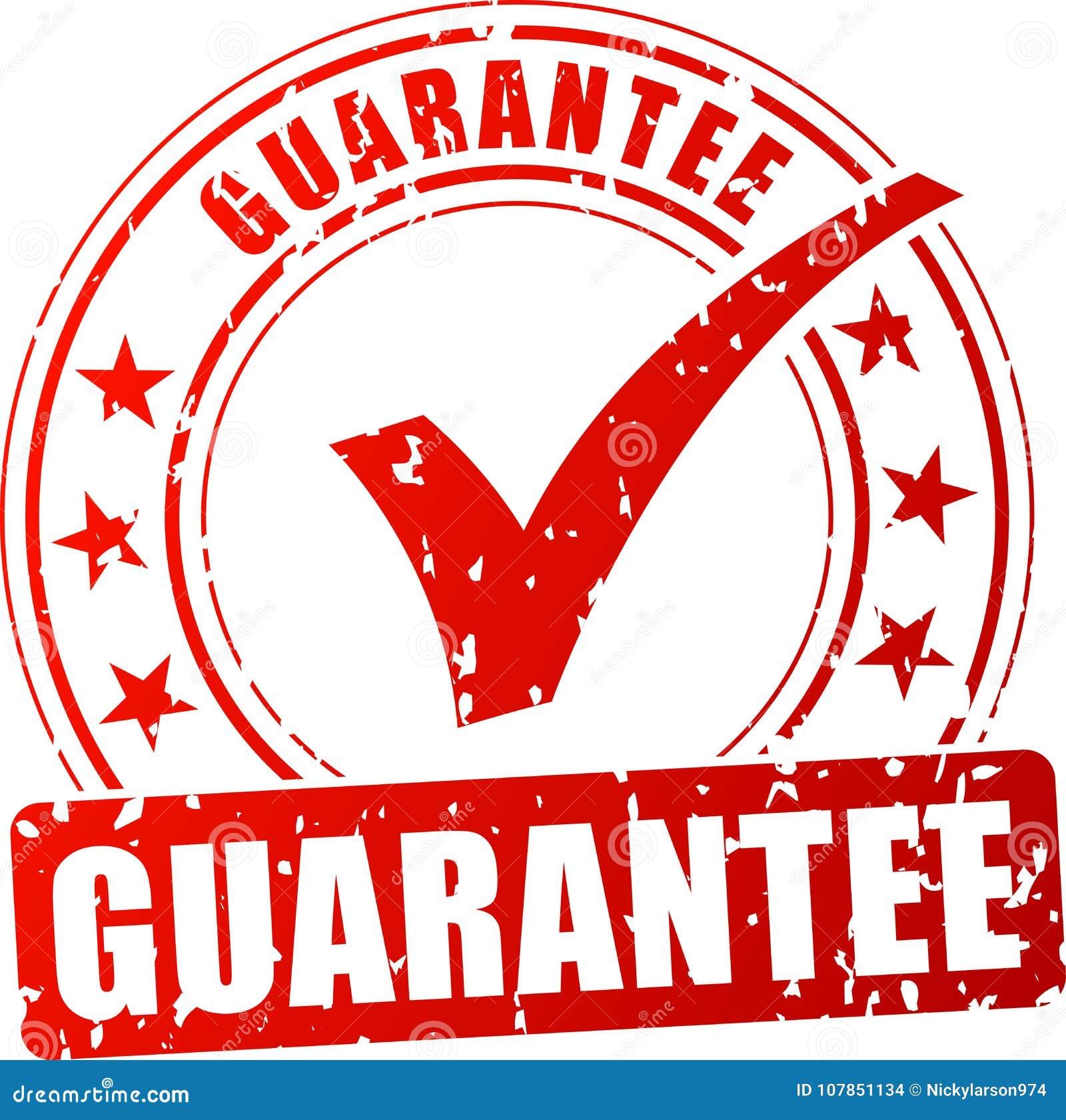 Timbre rouge de garantie