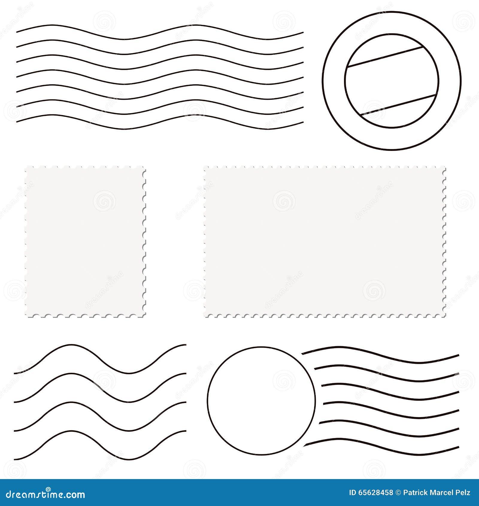 Timbres et marques de courrier