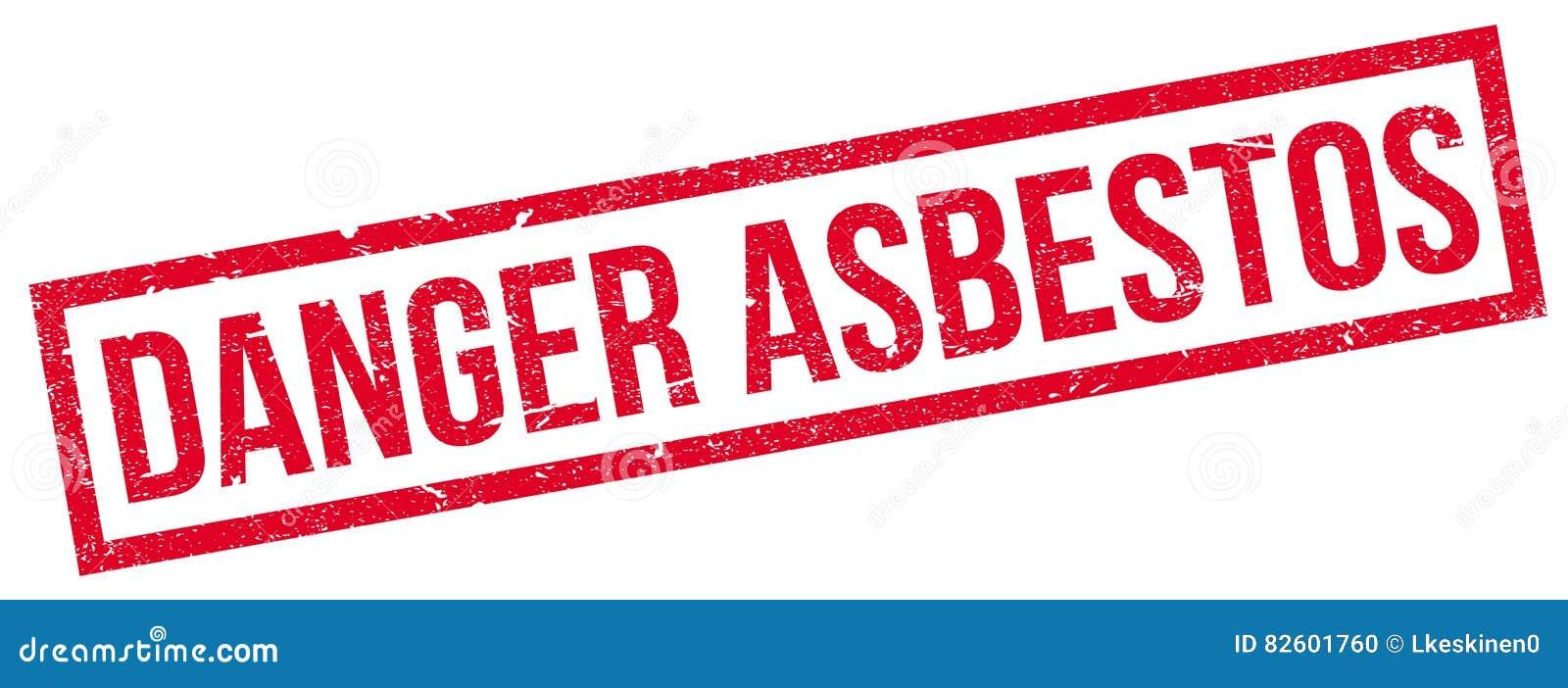 Timbro di gomma dell amianto del pericolo