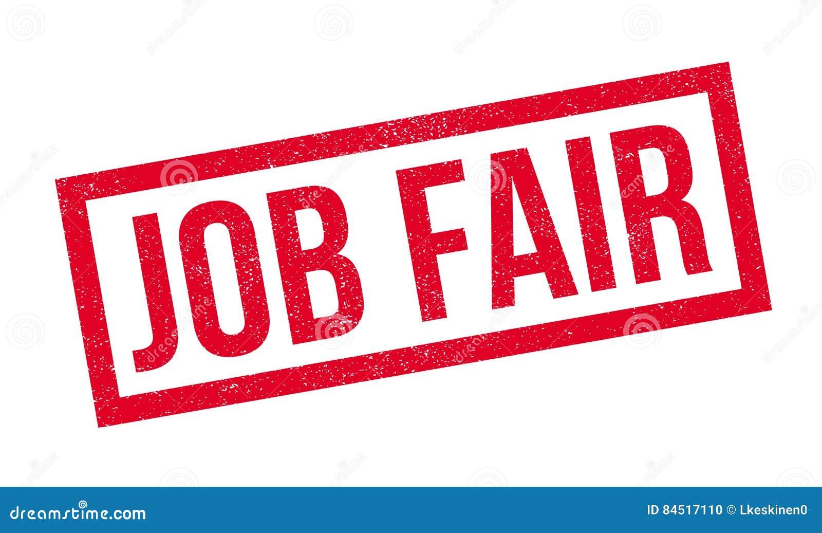 Timbro di gomma di Job Fair