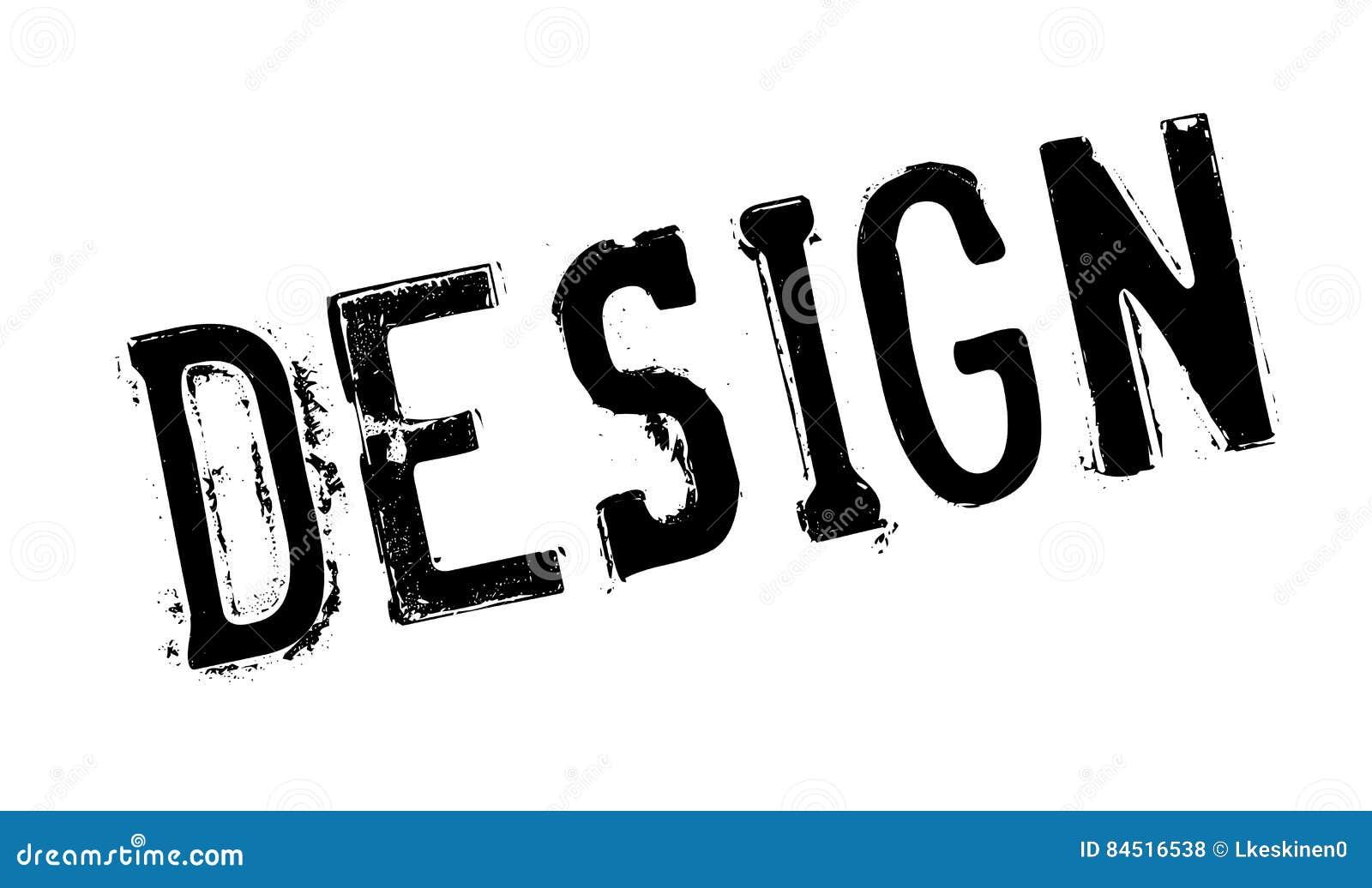 Timbro di gomma di progettazione illustrazione di stock for Programma di architettura