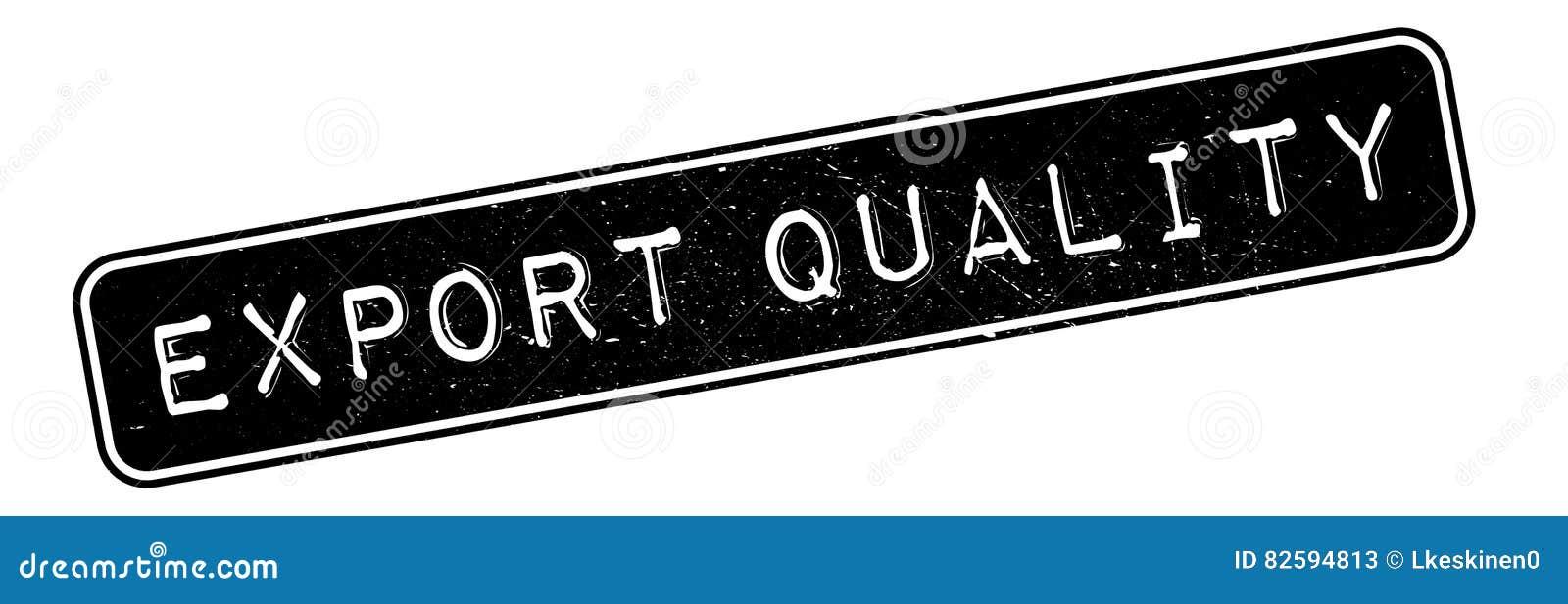 Timbro di gomma di qualità dell esportazione
