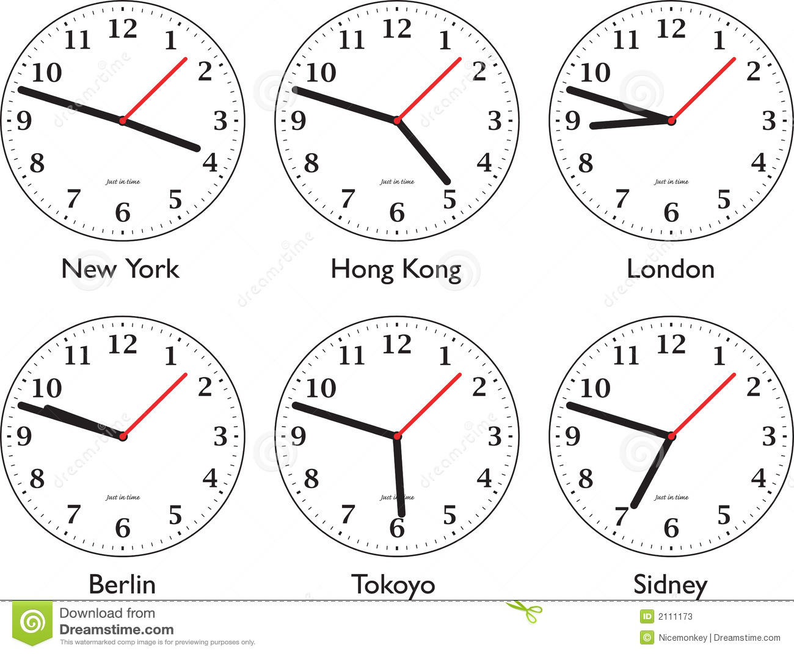 Time Around The World Stock Photos - Image: 2111173