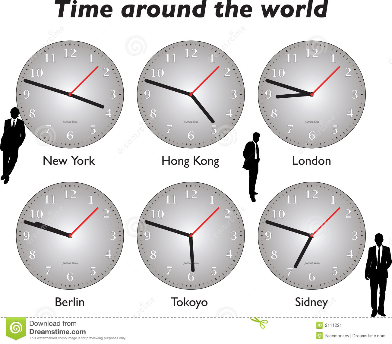 Time Around The World Business Stock Image - Image: 2111221