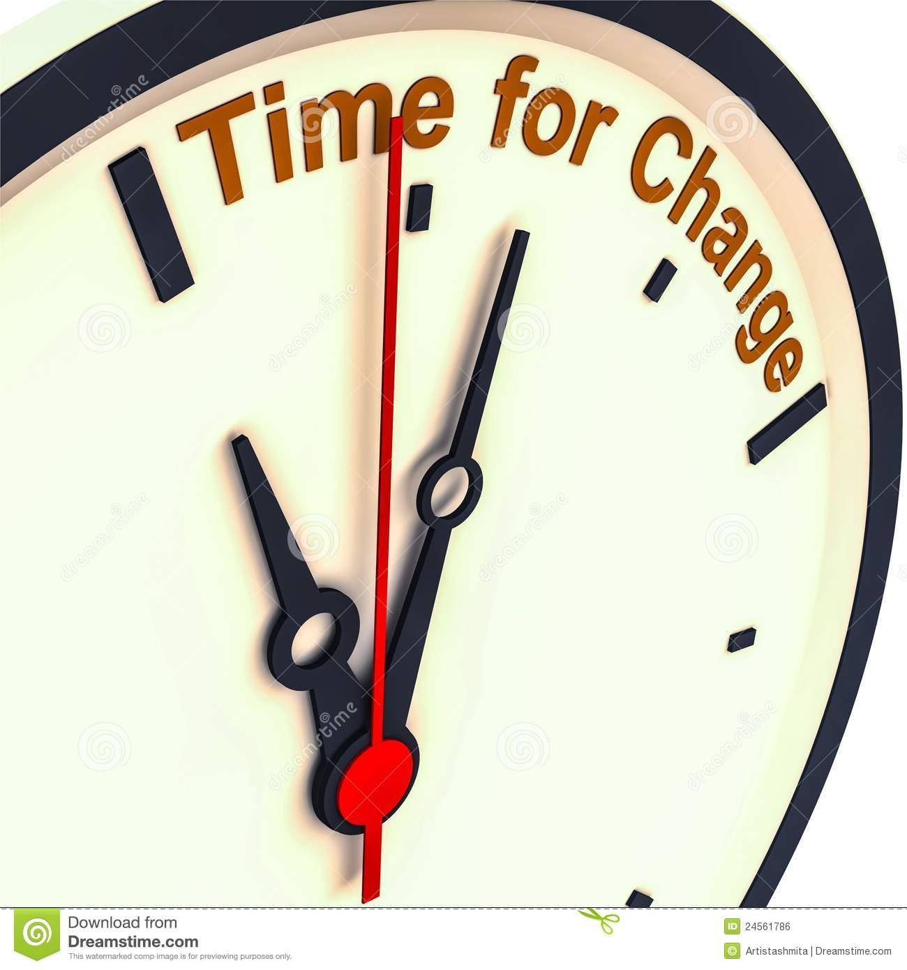 Time For Change Stock Illustration. Illustration Of
