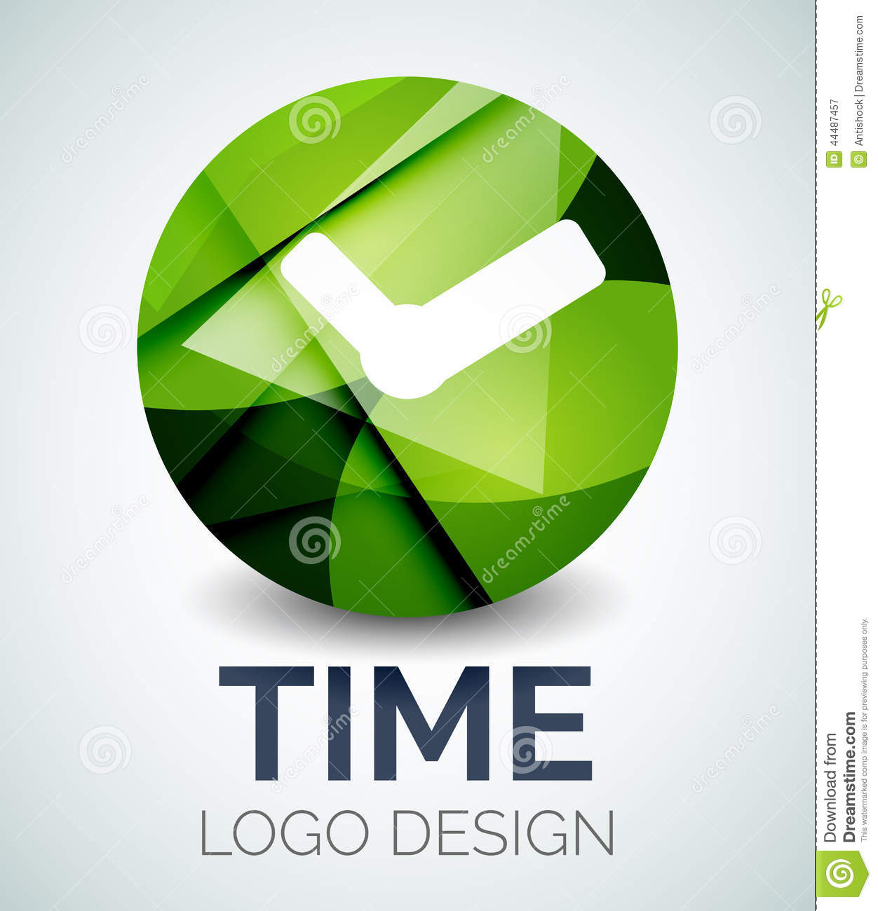 Stock Illustration Time Clock Logo Design Made Color Pieces Abstract Various Geometric Shapes Image44487457 on alarm clock graphic