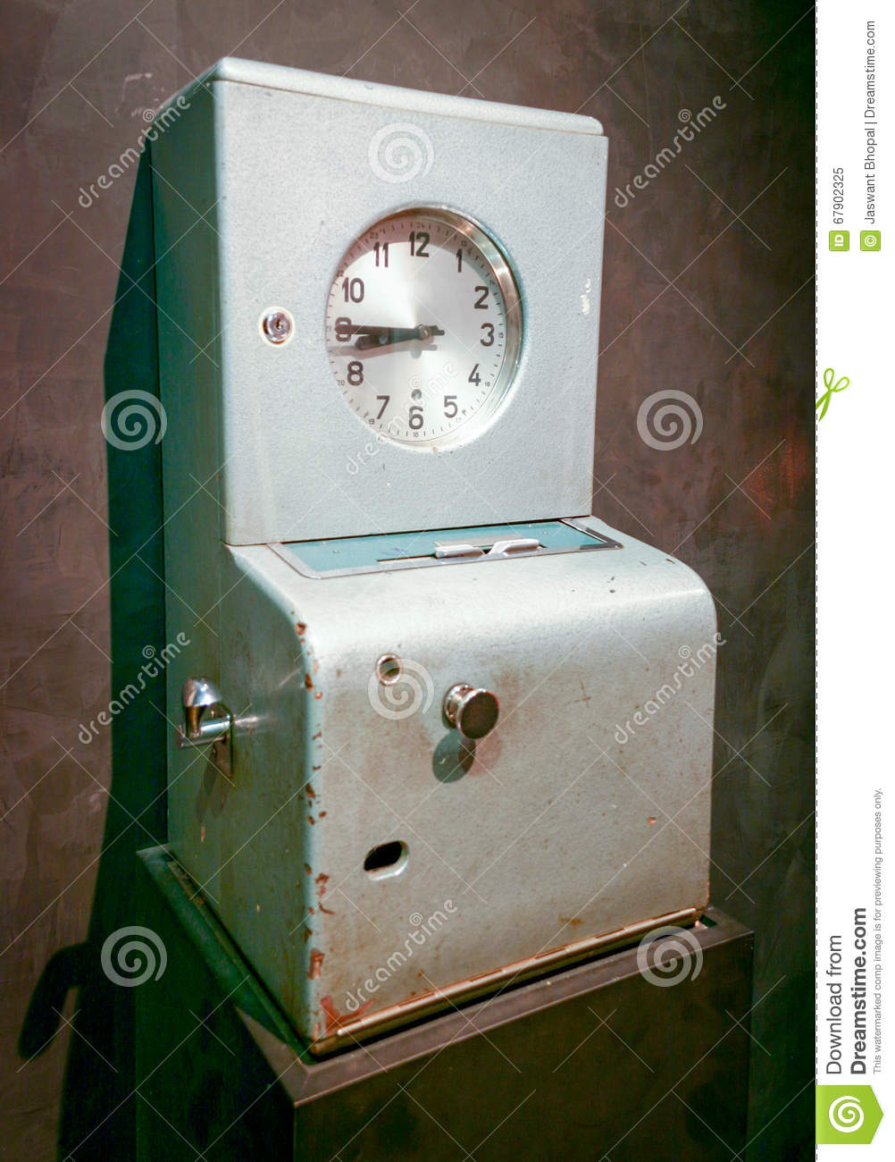 time clock stock image image of punch card work traditional
