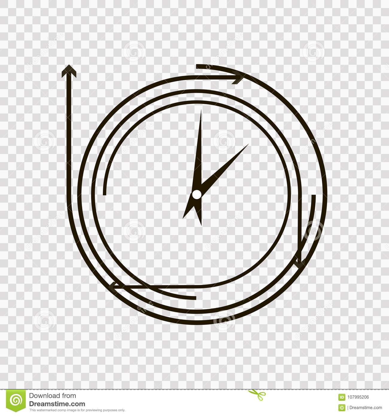time concept or clock business icon creative logotype design