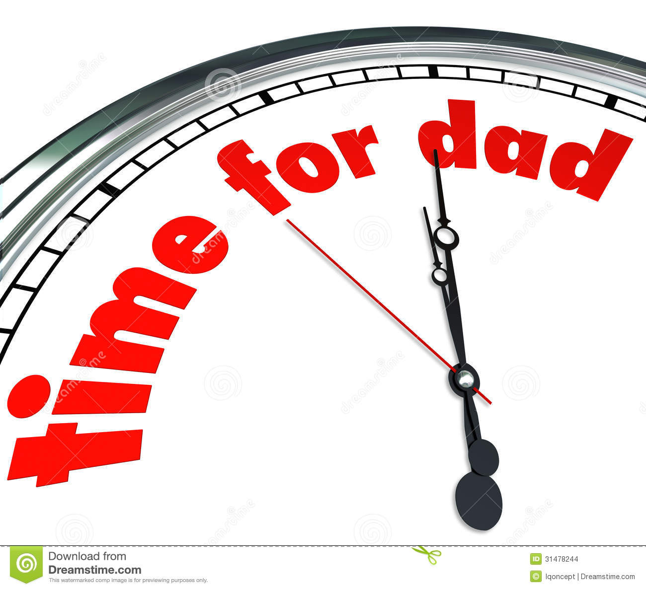 time for dad clock fatherhood father s day appreciation