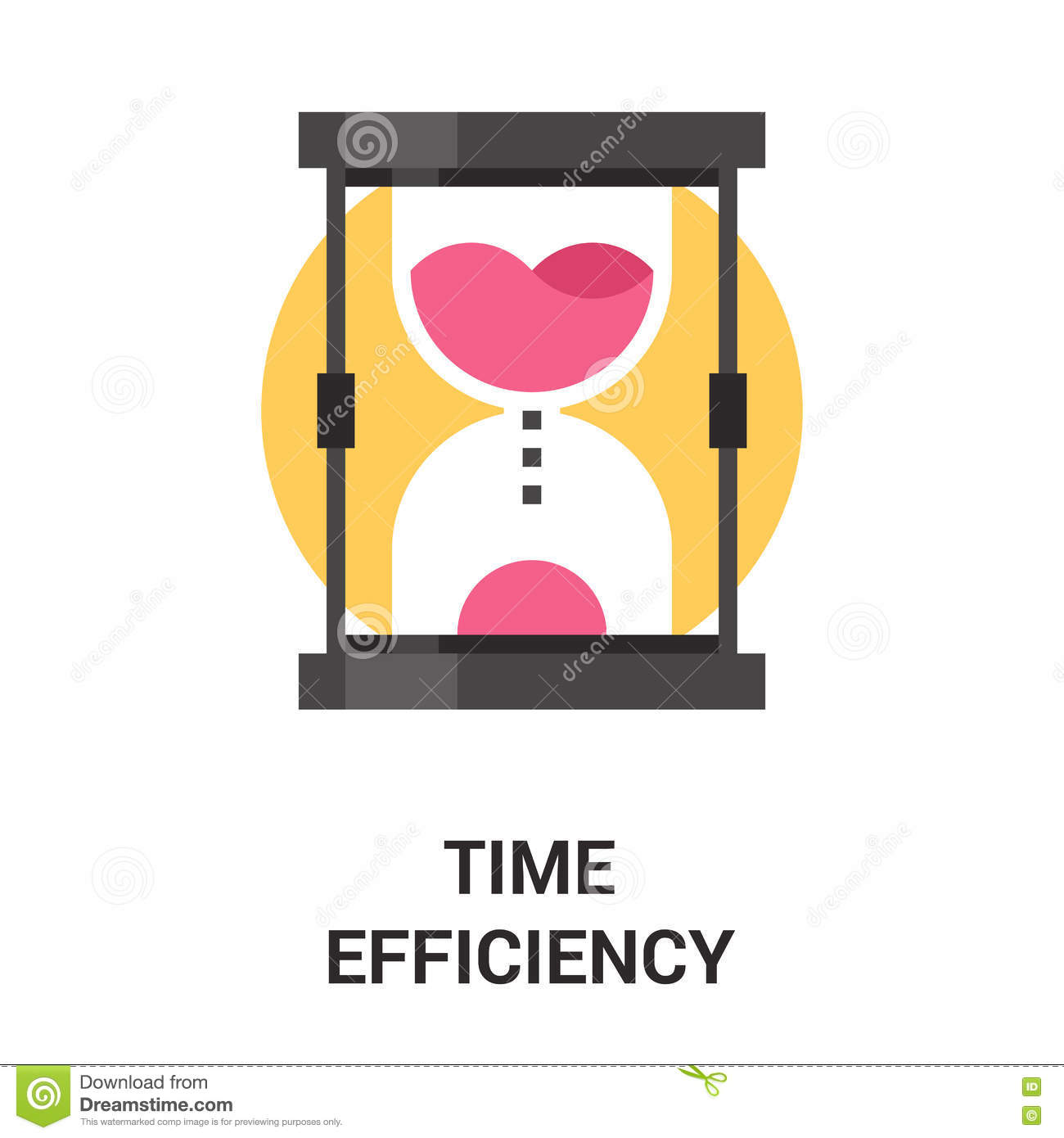 Time Efficiency Icon Concept Stock Vector - Illustration ...