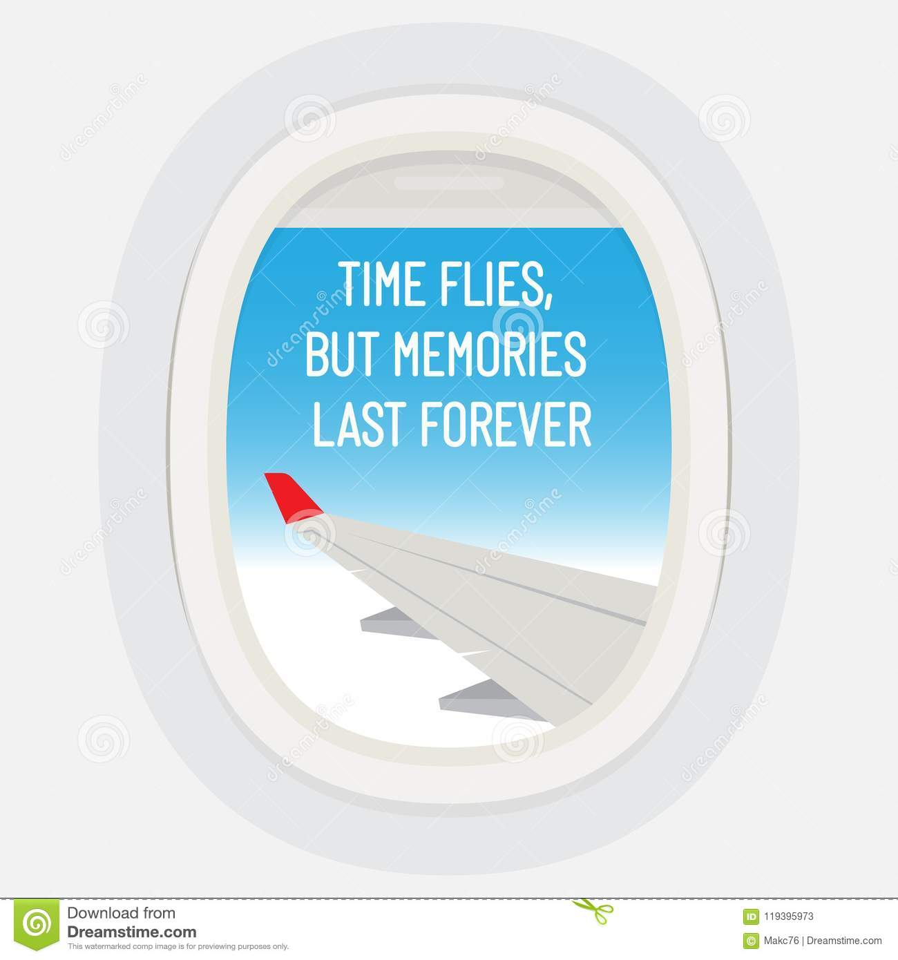 Time Flies But Memories Last Forever Motivational Quote Stock