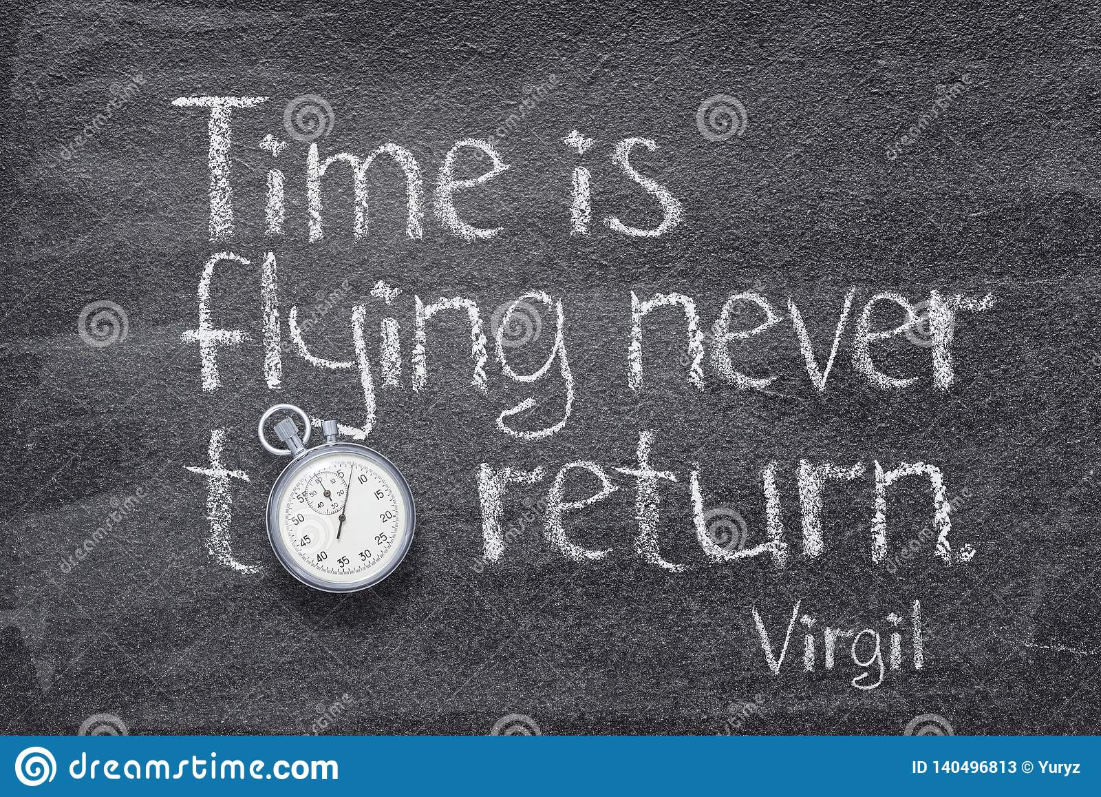 Time is flying Virgil