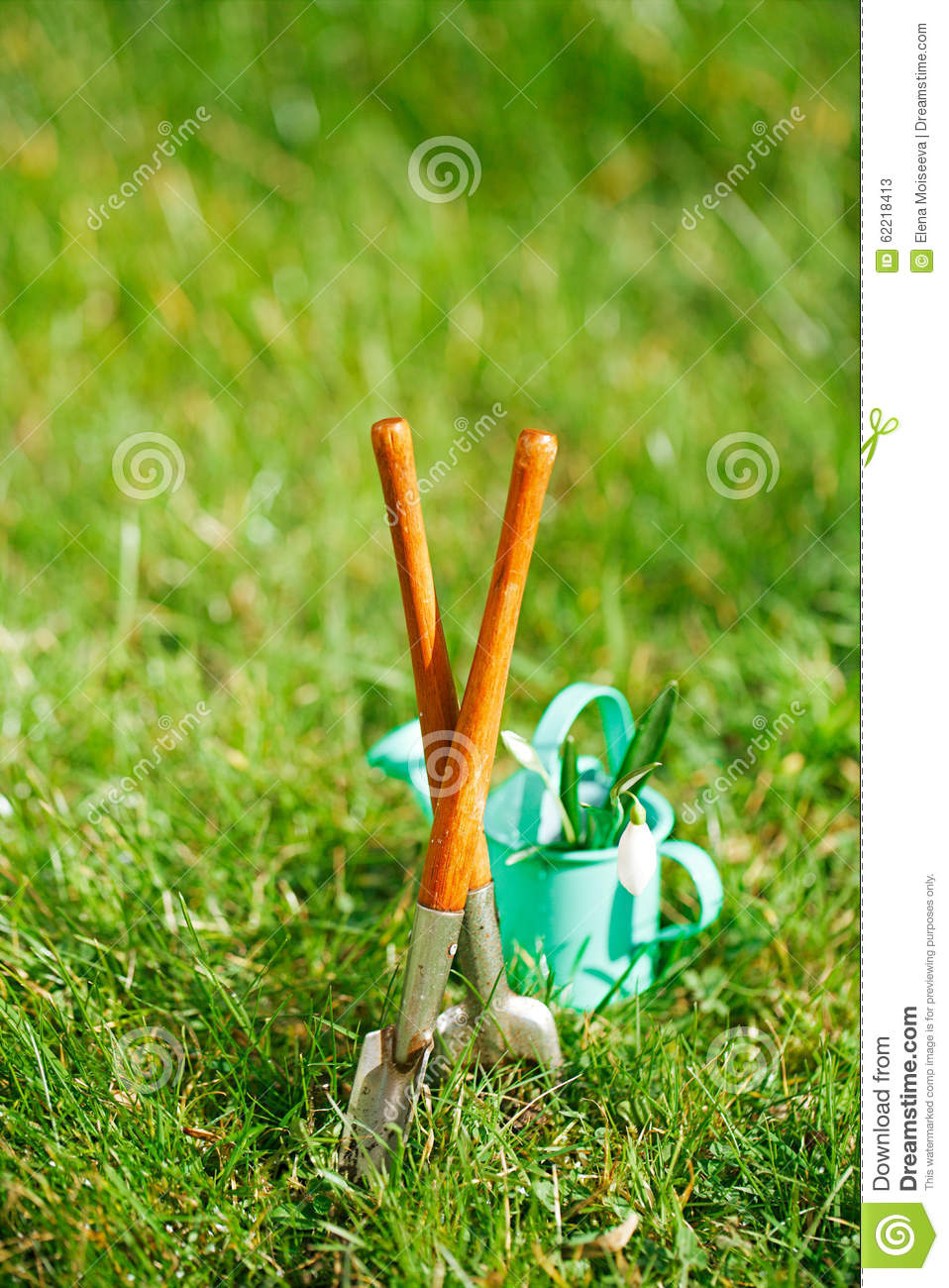 Time For Garden Now…. Decorative Small Gardening Tools And Sno Stock ...