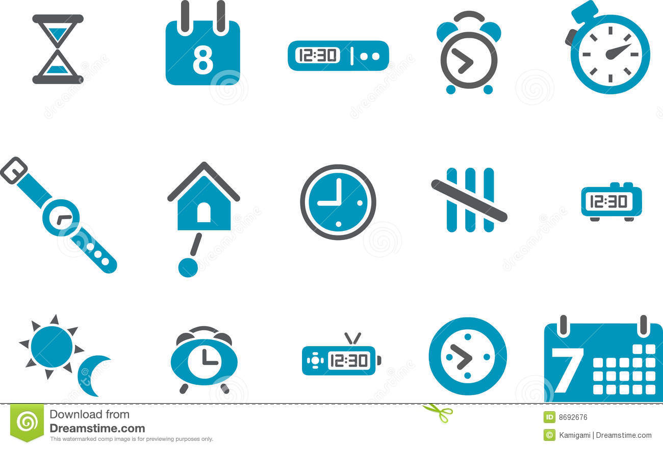Time Icon Set Royalty Free Stock Image - Image: 8692676