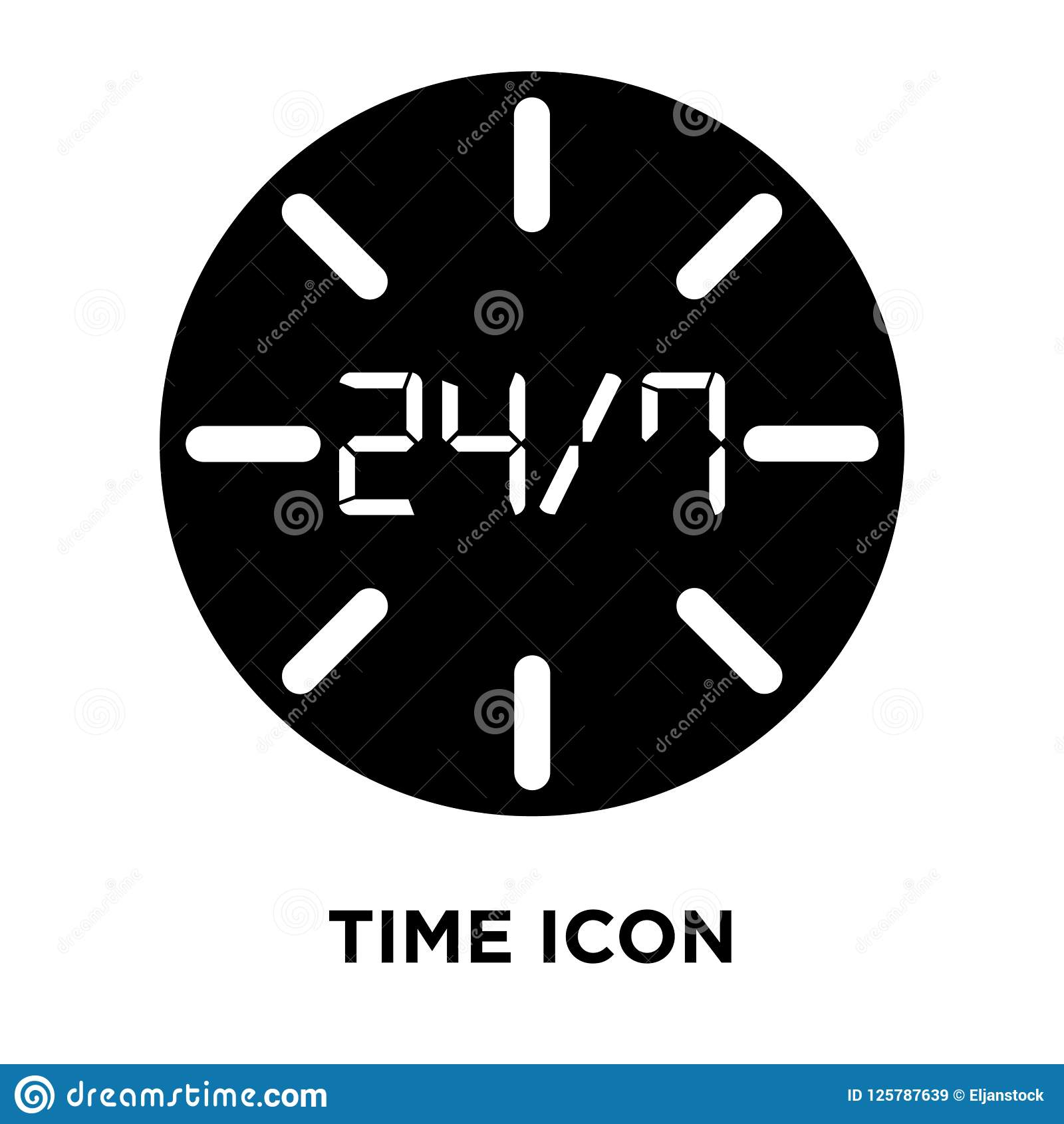Time Icon Vector Isolated On White Background, Logo Concept