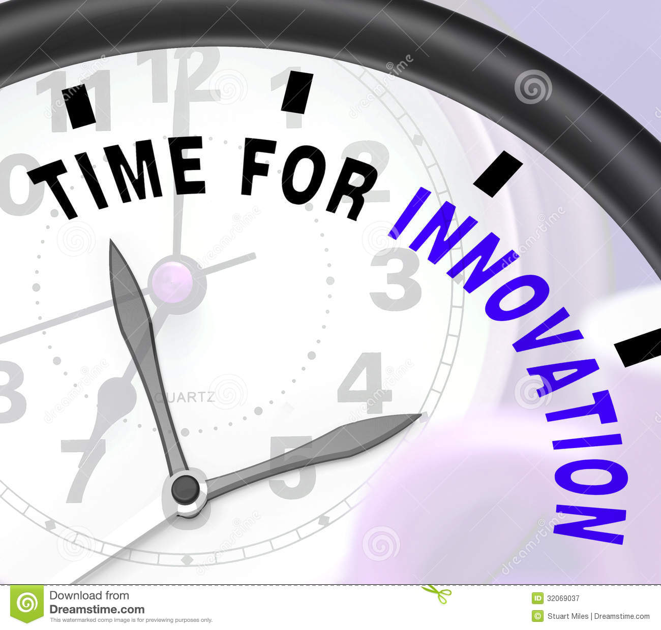Time For Innovation Shows Creative Development And Ingenuity ...