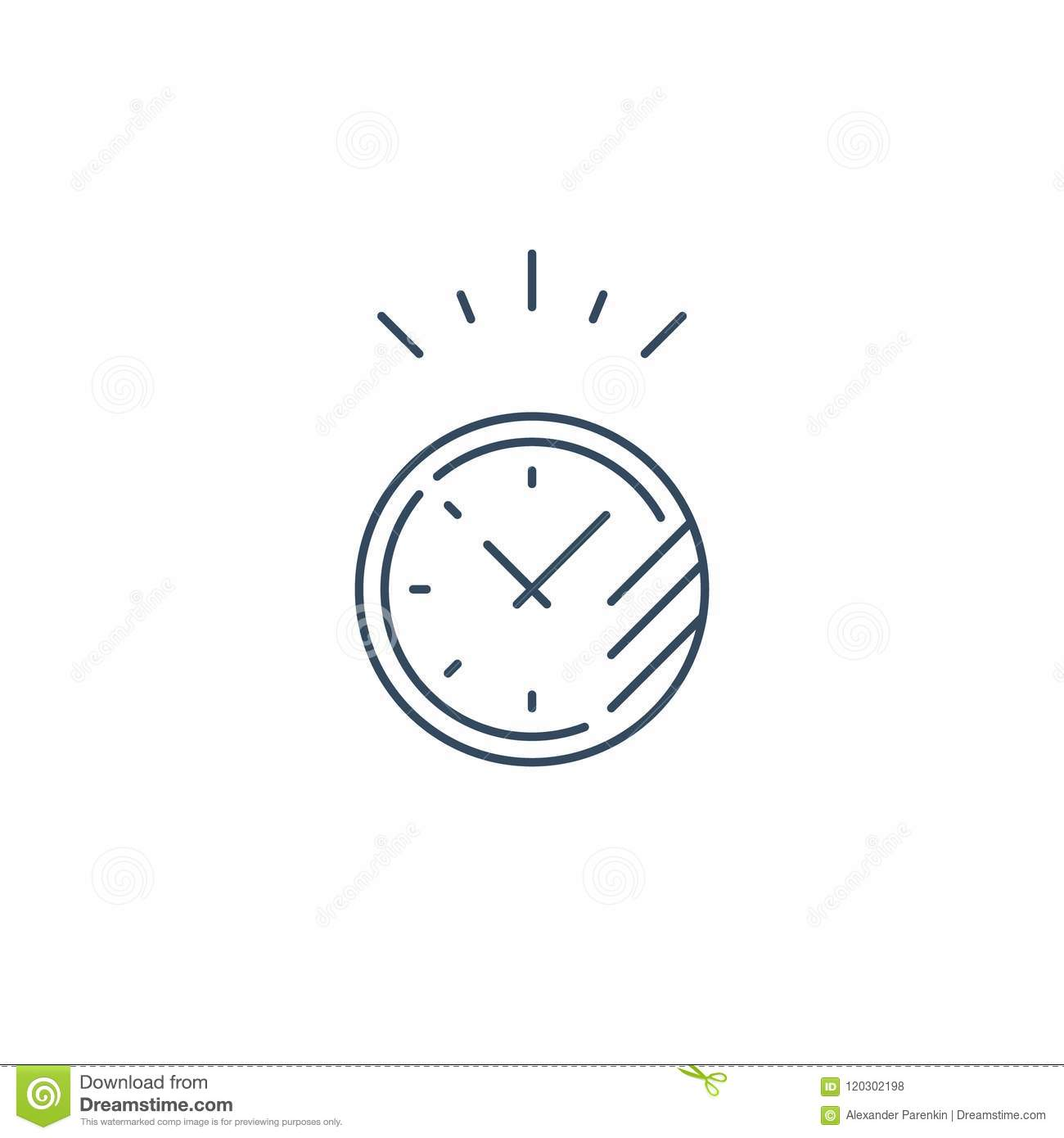 Fast Time Stop Watch Last Minute Count Down Limited Offer S D Hour Vector Line Icon
