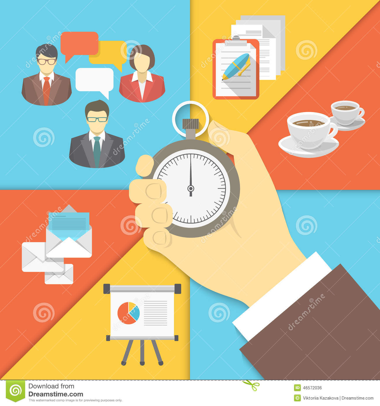 Time Management Business Concept Stock Vector Image