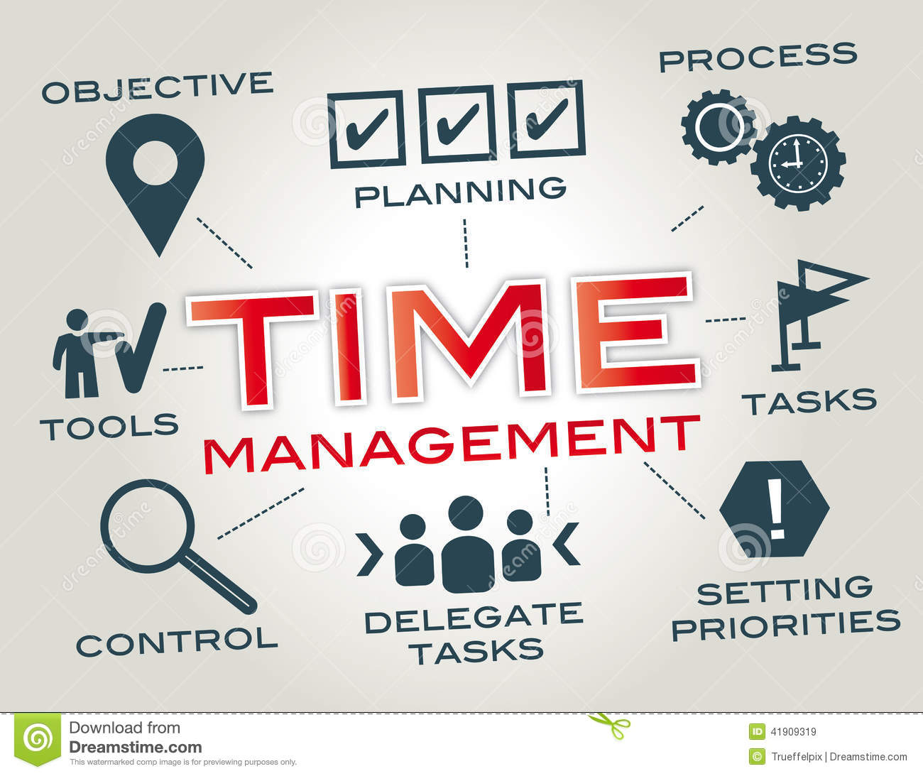 Time Management. Royalty Free Illustration