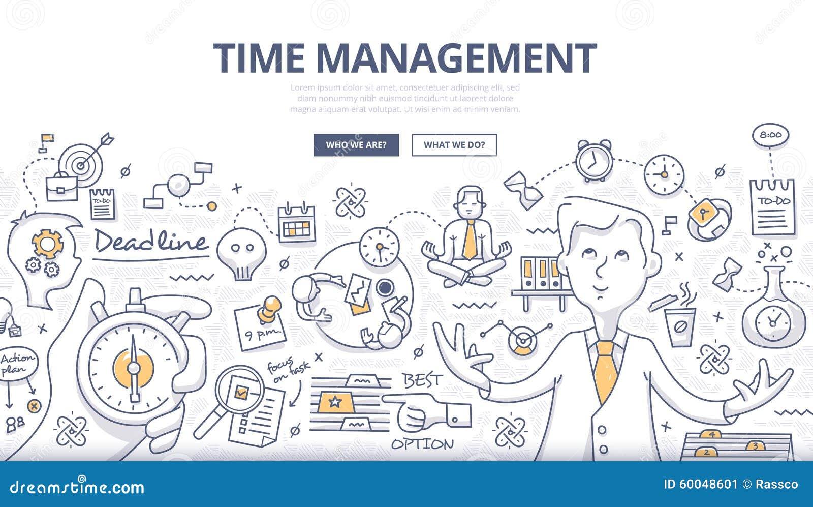 Time Management Doodle Concept Stock Vector - Image: 60048601