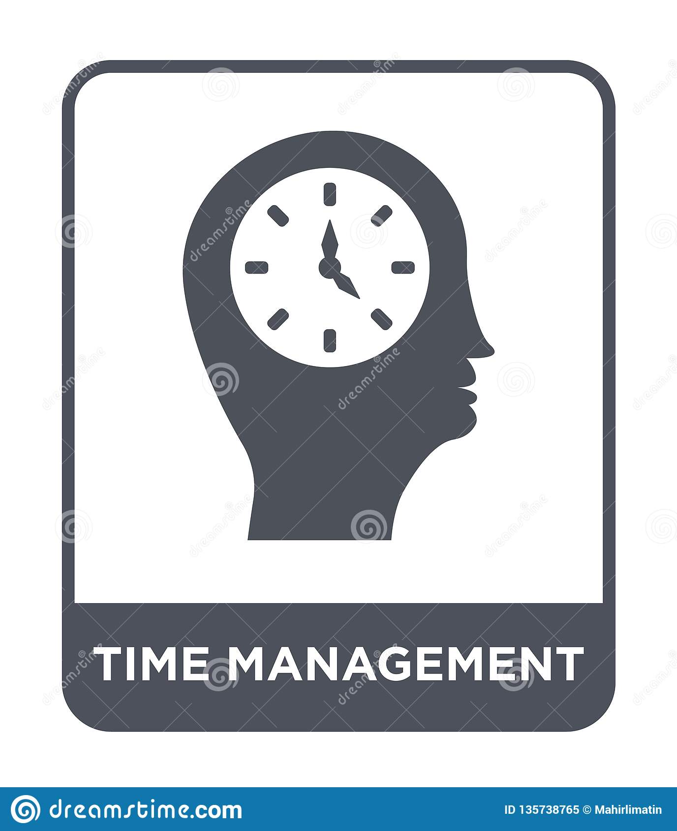 time management icon in trendy design style. time management icon isolated on white background. time management vector icon simple