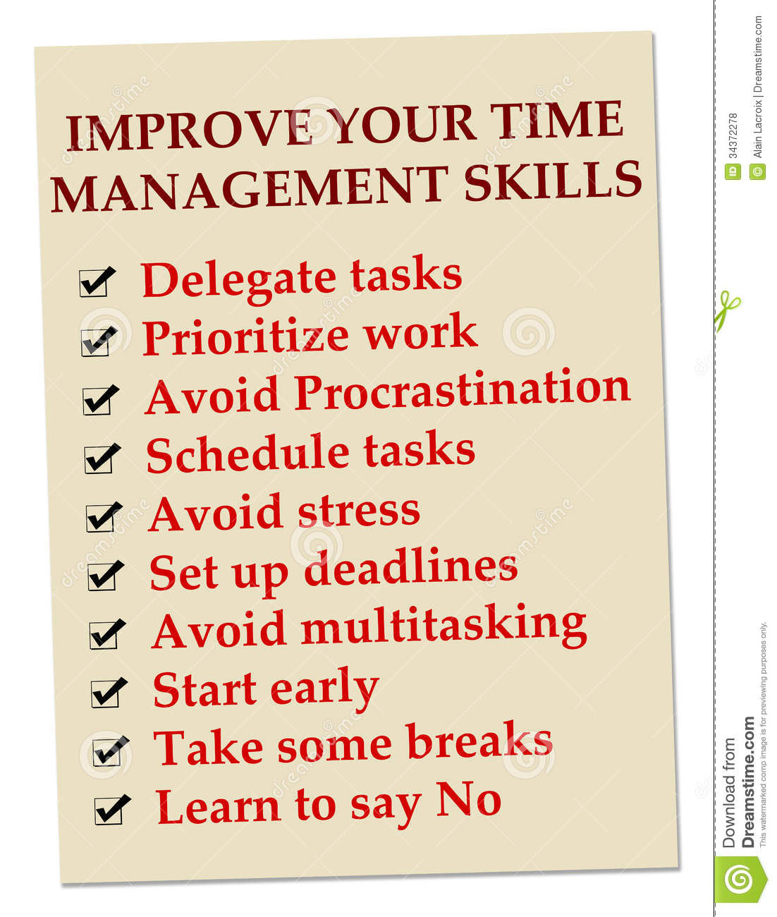 Time Management Royalty Free Stock Photos - Image: 34372278