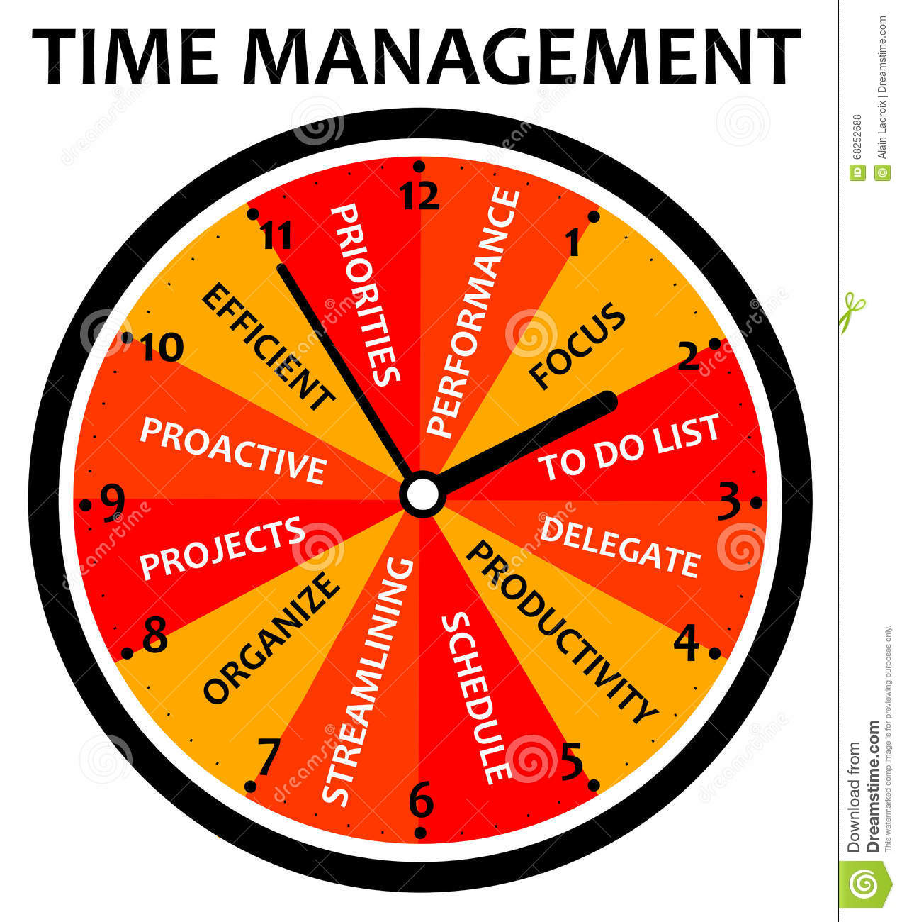 Time Management Stock Illustration Illustration Of Priorities 68252688