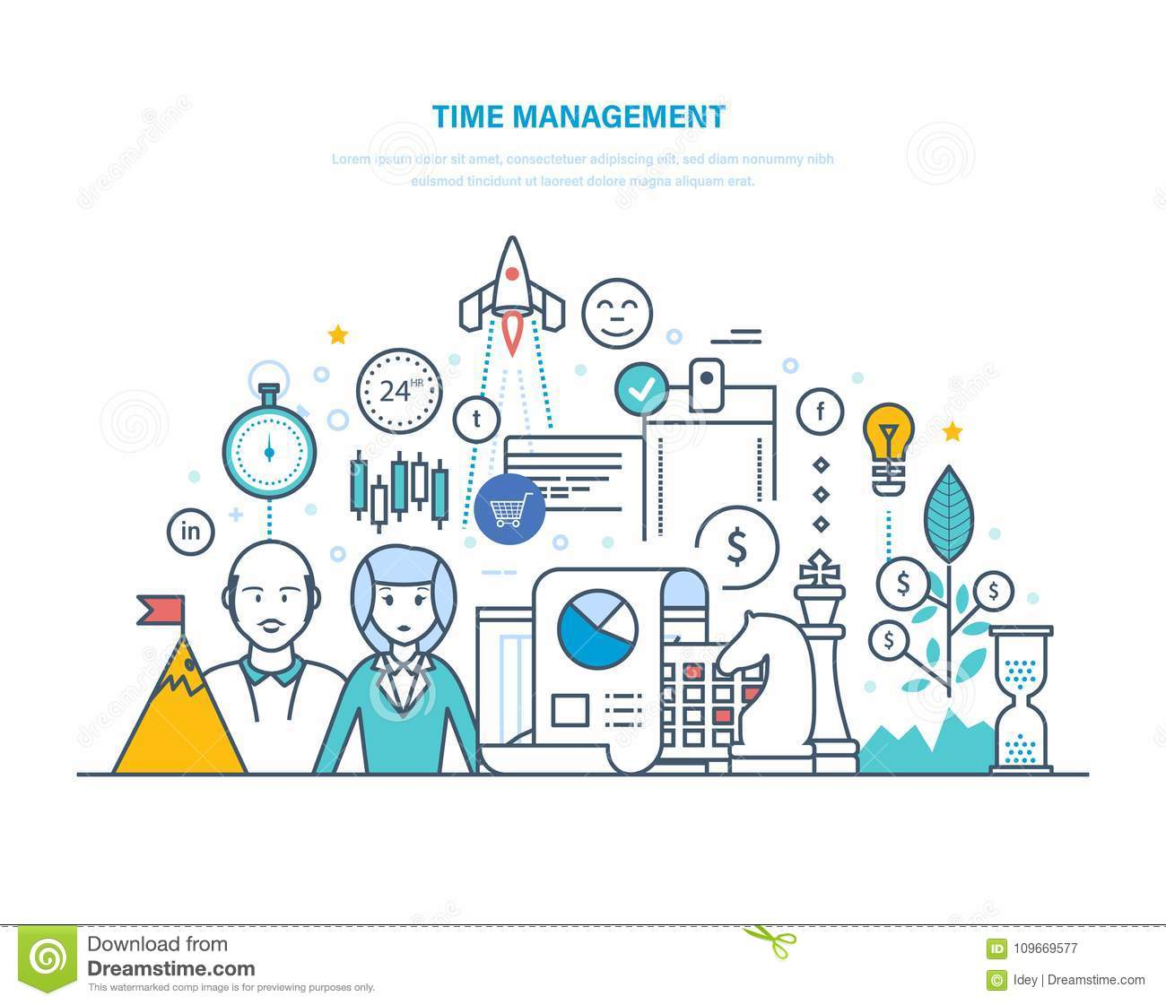 Time Management. Planning And Organization Of Working