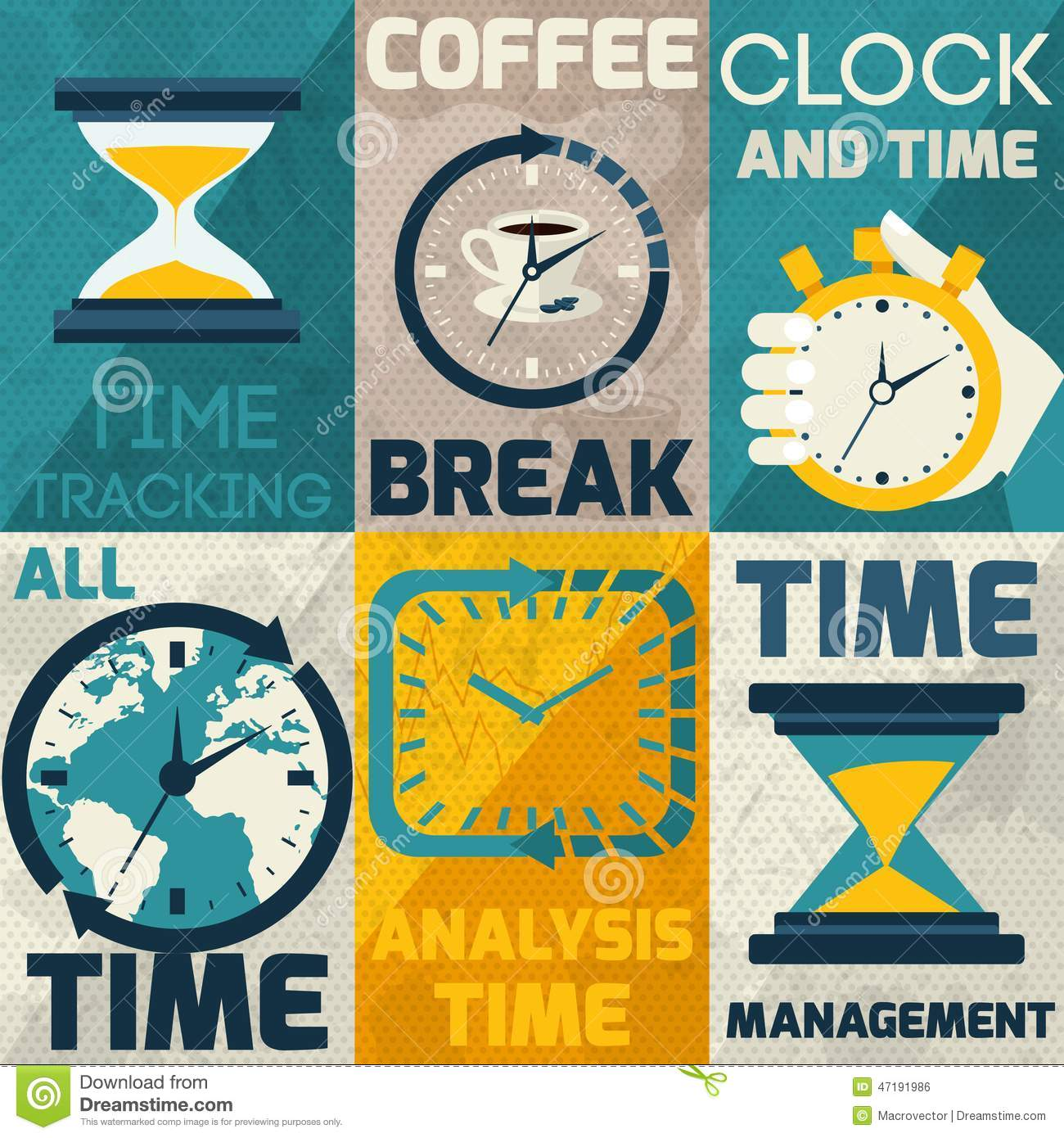 Time management poster stock vector. Illustration of check ...