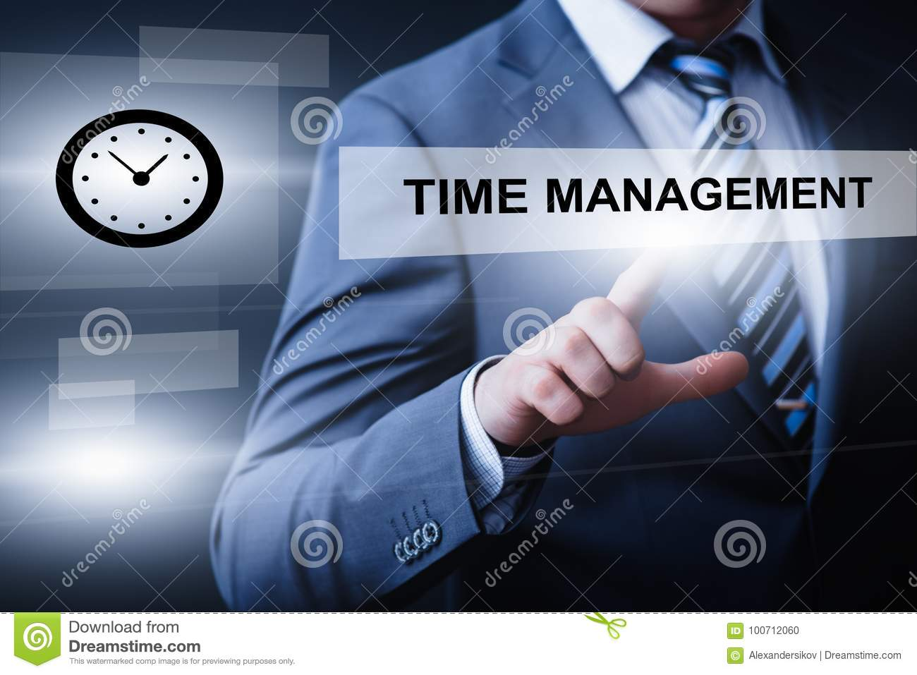 Time Management And Technology: Time Management Project Efficiency Strategy Goals Business