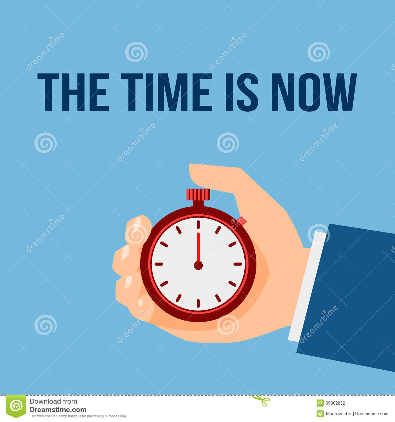 Time Management Stop Watch Poster Stock Vector - Image ...