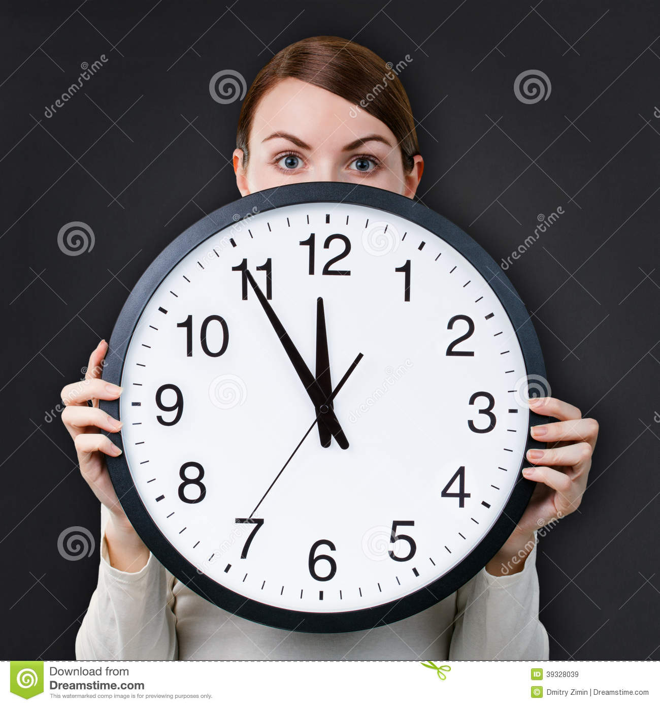 Time Management For Woman Stock Photo