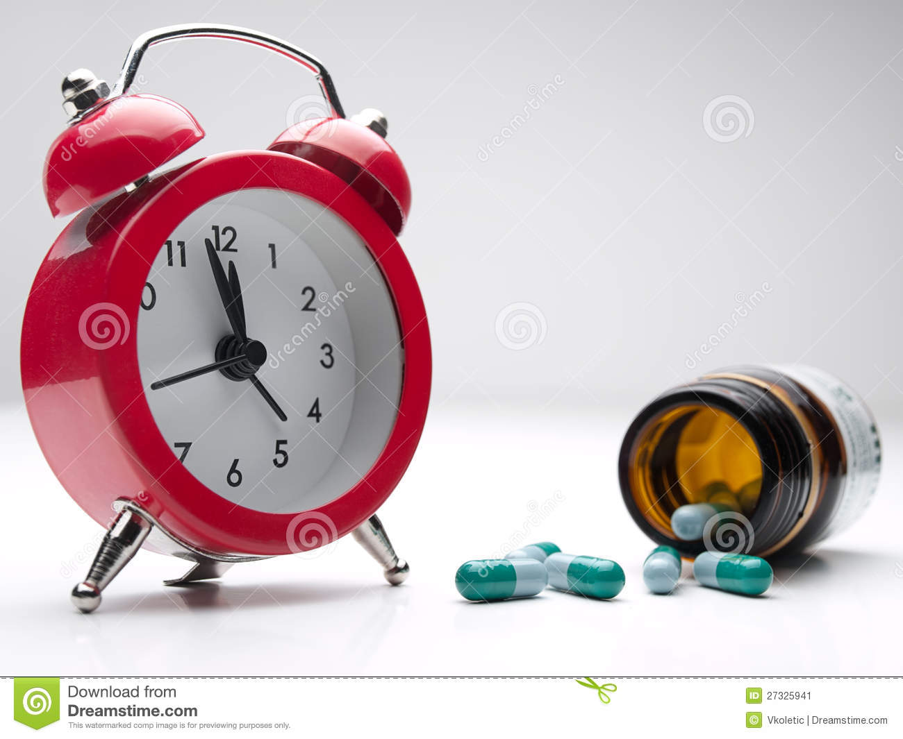 time for the medicine stock image