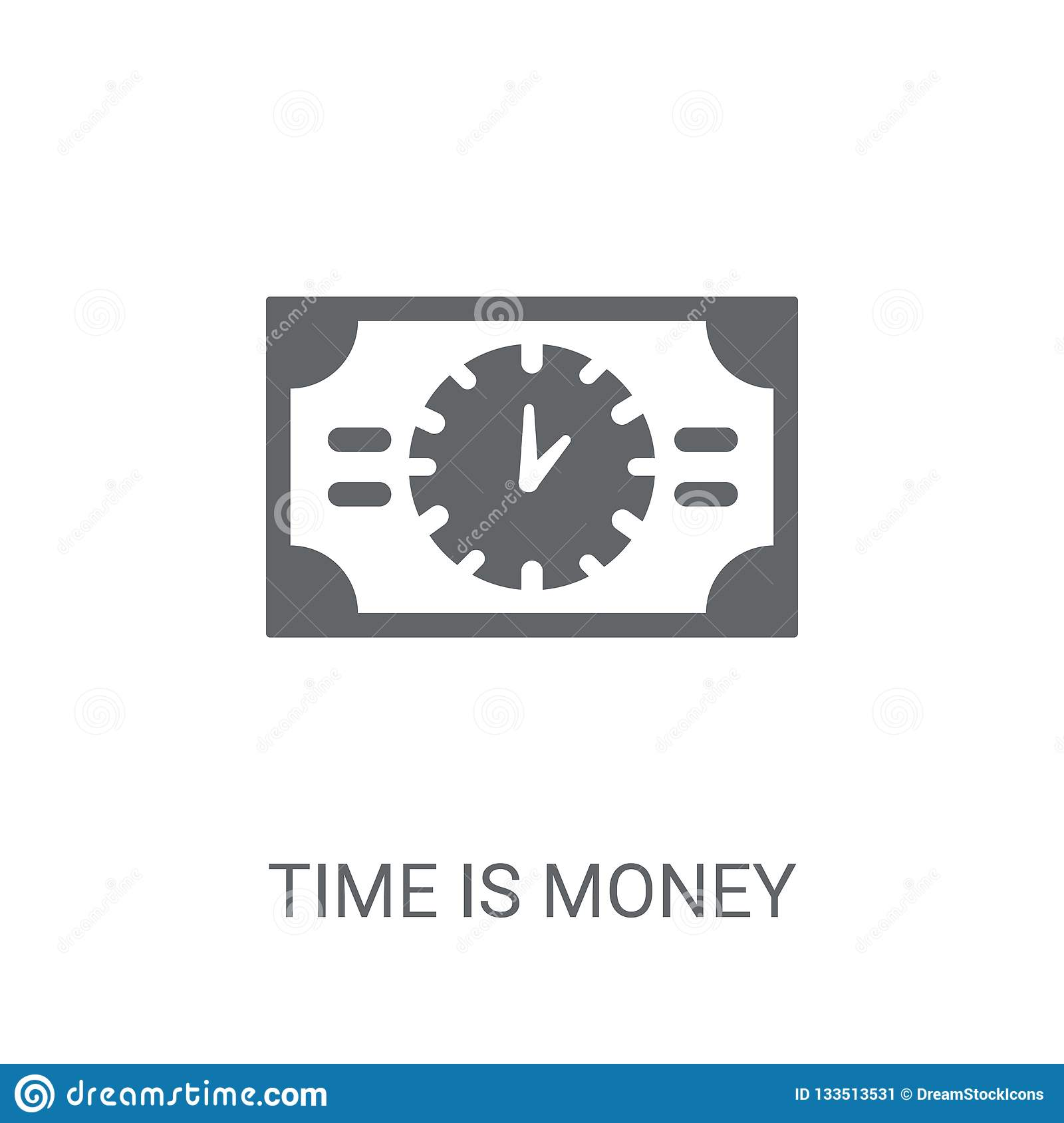 Time is money icon. Trendy Time is money logo concept on white b