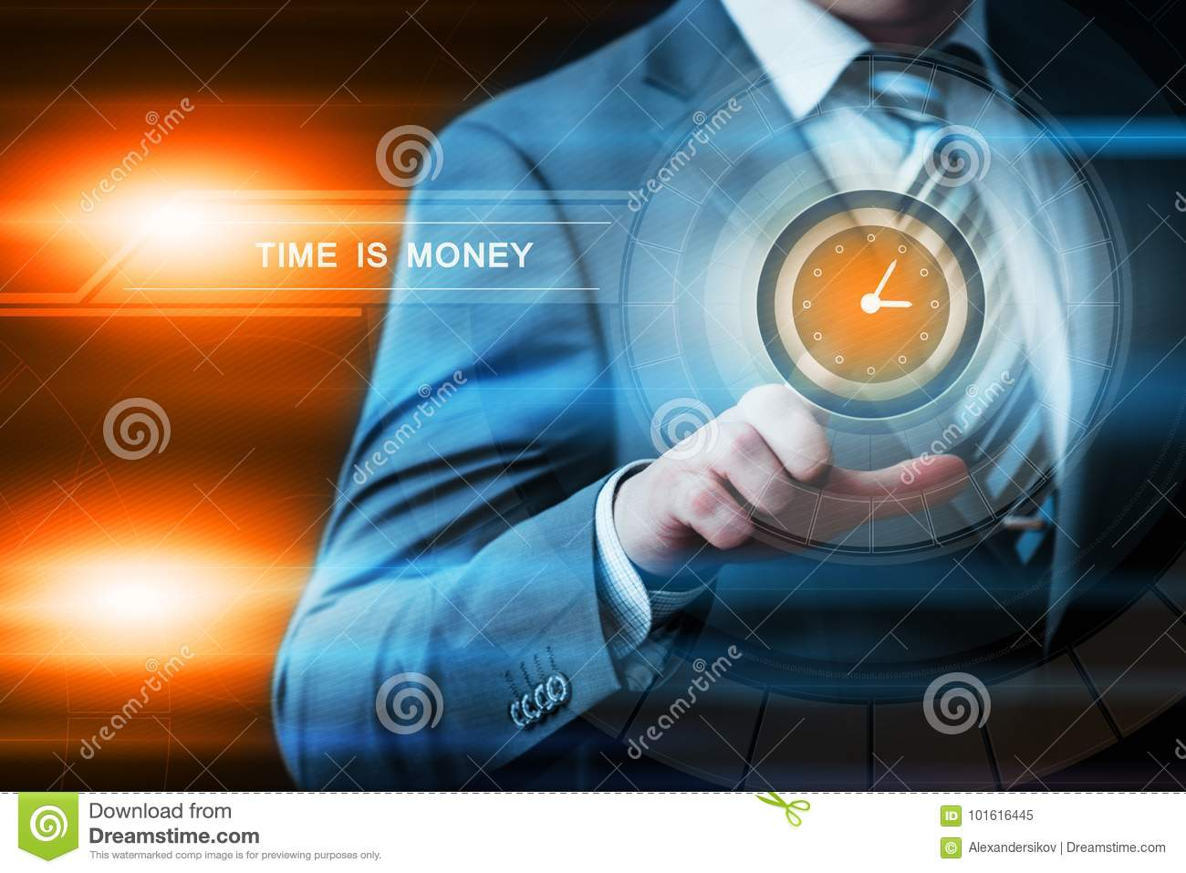 Time Is Money Investment Finance Business Technology Internet Concept