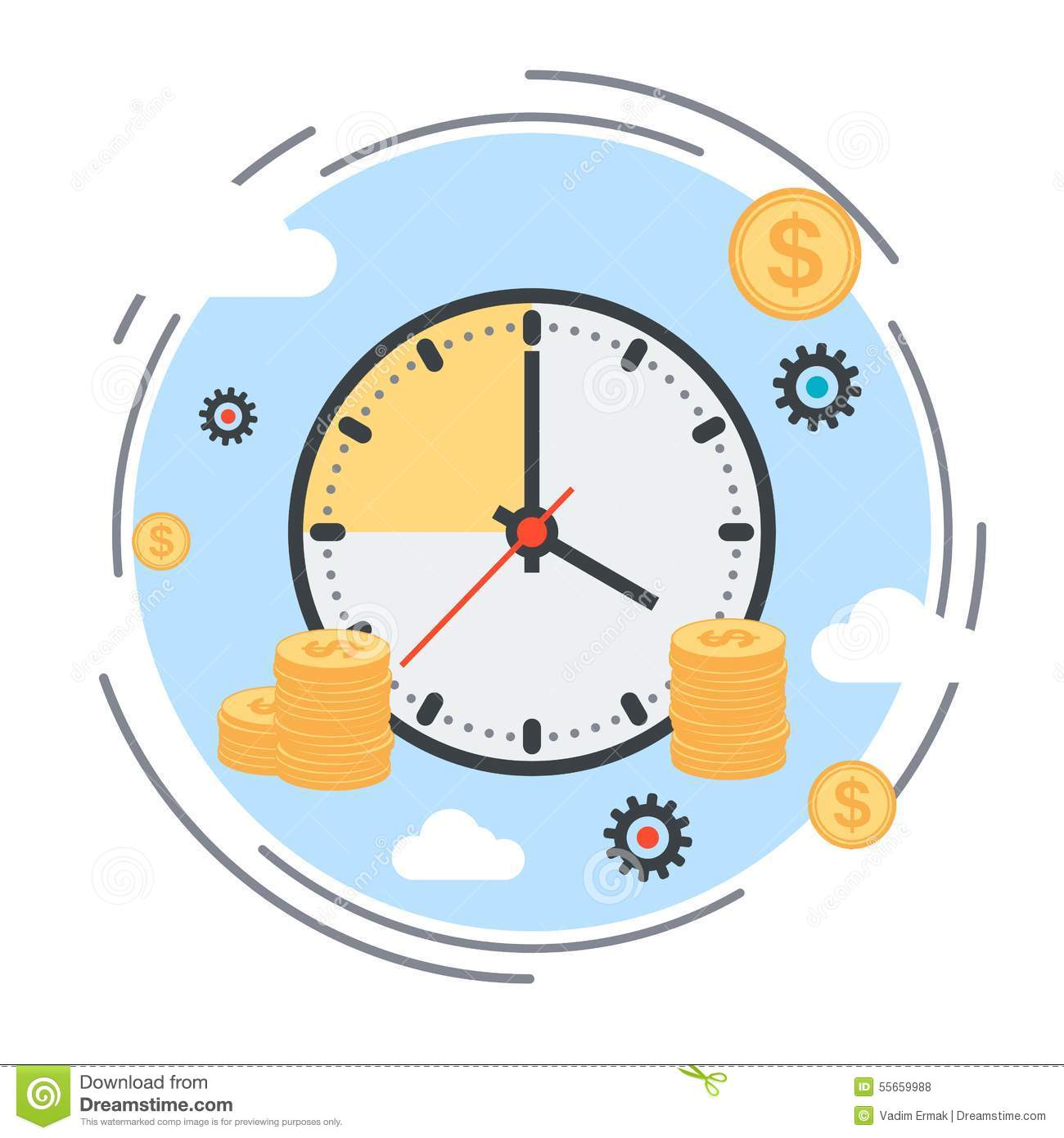 Time is money time management business planning concept for Time design planner