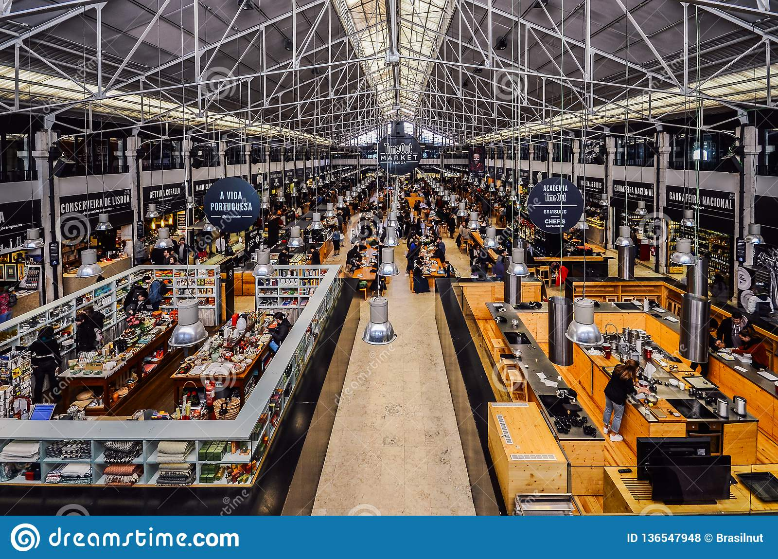 Time Out Food Market Mercado da Ribeira in Lisbon is a major gastronomic  tourist attraction 1aeee727e7d76