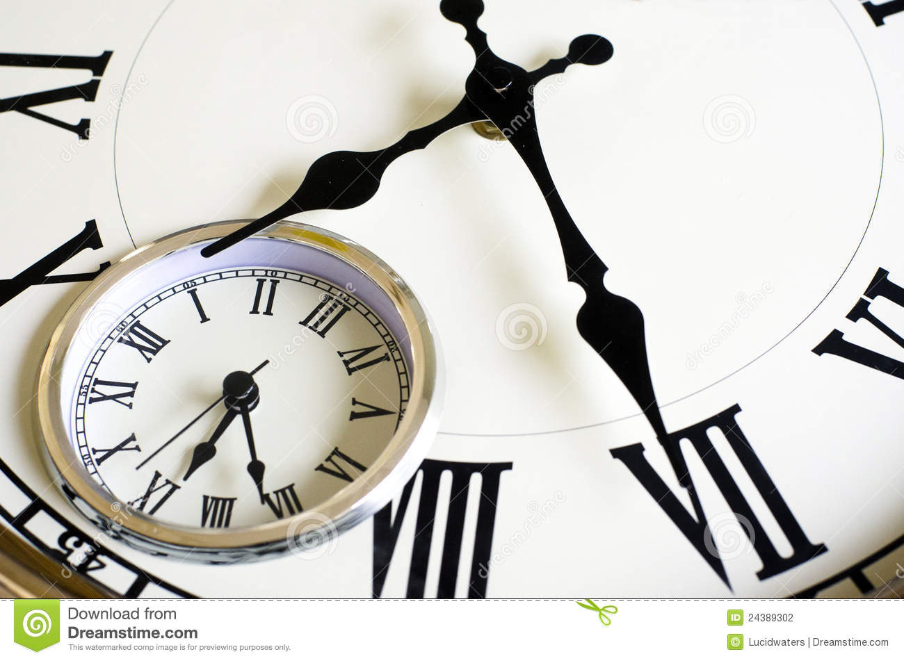 Time Passing Concept Old Clock Stock Photography Image