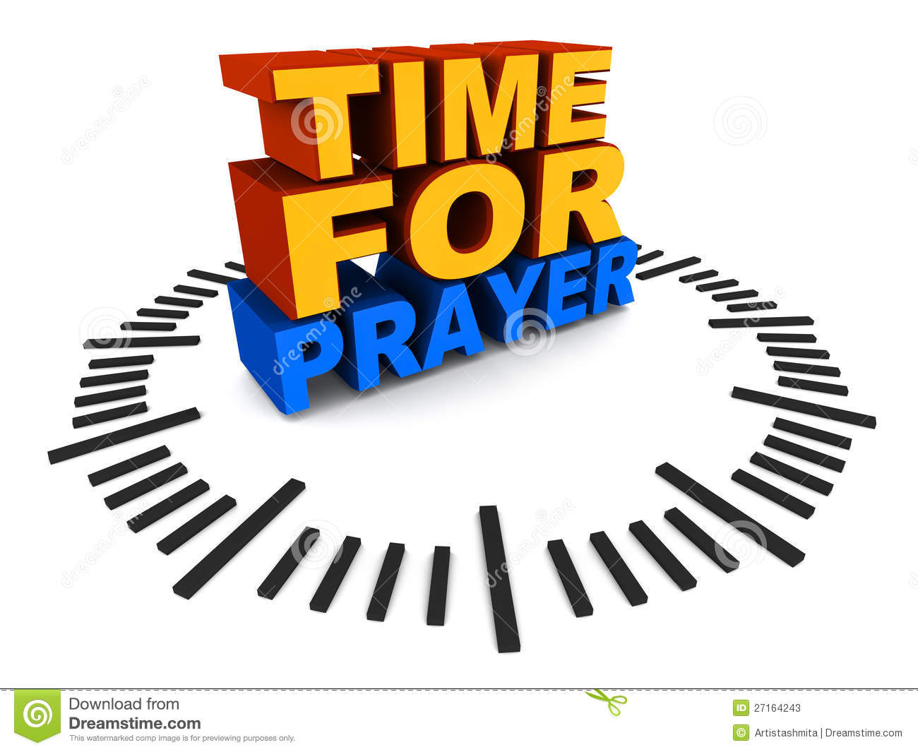 ... to pray, text on clock dial, concept of faith, religion and prayer