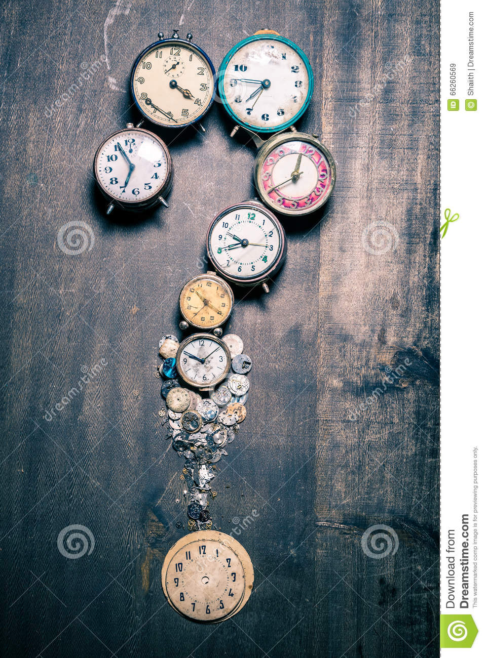 Time and questions mark