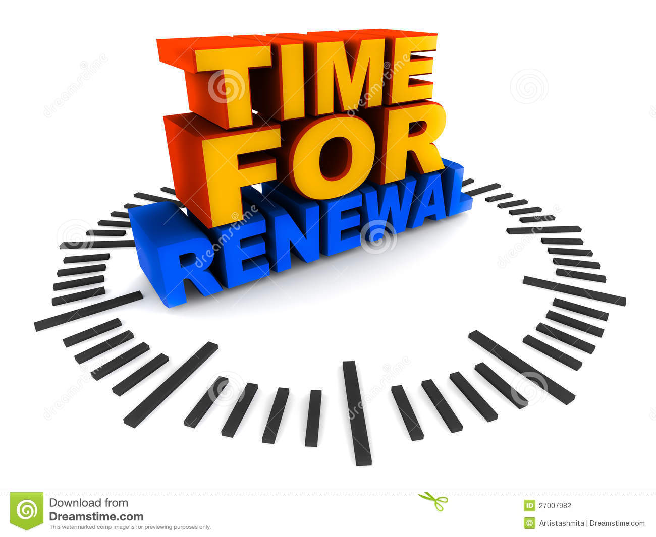 time for renewal stock